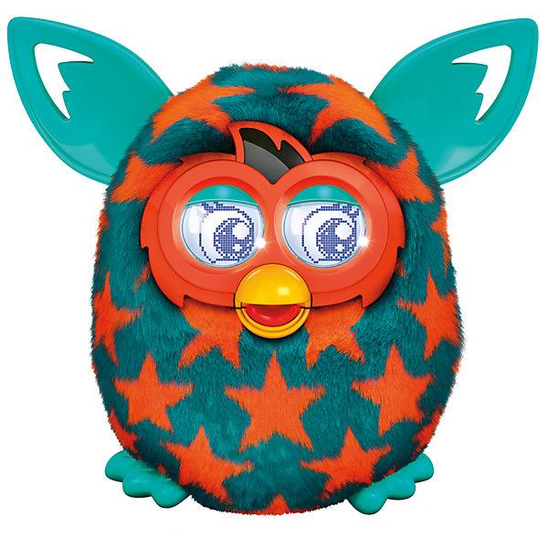 Интерактивная игрушка Furby Boom (Ферби бум) В звездочкуМягкие игрушки из мультфильмов<br>Встречайте новое поколение от Furby Boom (Ферби Бум) -  усовершенствованную модель любимых игрушек Ферби. Интерактивная игрушка Furby Boom (Ферби бум) понравится и взрослым и детям. Забавный мохнатый зверек покоряет сердце при первом взгляде. Малыш может выучить свое имя, запоминать имена своих друзей, высиживать виртуальных малышей (Ферблингов), общаться с ними, танцевать, петь и даже разозлиться, если его обидеть. Под шерсткой малыша находятся чувствительные зоны, поэтому, он умеет реагировать на прикосновения, понимает, когда его качают или переворачивают вниз головой. Ферби Бум разговаривает на двух языках - русском и фербише. <br>Качество звука в новой игрушке значительно улучшилось, словарный запас стал  больше.  Усовершенствовалась анимация глаз, добавлены новые выражения эмоций, благодаря этому реакция на происходящее стала еще живее и острее. И конечно, каждый Furby Boom имеет свой индивидуальный характер, чем еще больше напоминает живое, уникальное существо. Только существа из поколения Furby Boom, такие пестрые и стильные, и умеют играть с бесплатным приложением Furby Boom. <br><br>Дополнительная информация:<br><br>- Материал: пластик, мех.<br>- Размер: 17 x 16.5 x 12 см.<br>- Элемент питания: 4 батарейки АА (не входят в комплект).<br>- Управление с помощью приложений: iPhone/iPad/iPod, Android.<br><br>Интерактивную игрушку Furby Boom (Ферби бум) В звездочку можно купить в нашем магазине.<br>Ширина мм: 124; Глубина мм: 200; Высота мм: 225; Вес г: 790; Возраст от месяцев: 72; Возраст до месяцев: 1188; Пол: Унисекс; Возраст: Детский; SKU: 3971713;