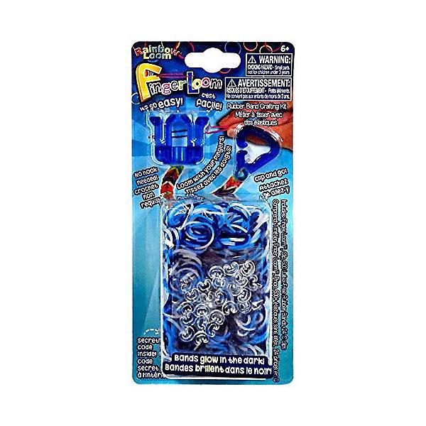 Набор для плетения браслетов из резиночек Finger Loom, синийНаборы для создания украшений и аксессуаров<br>Набор для плетения браслетов из резиночек Finger Loom (Фингер лум), синий - это уникальный набор для детского творчества.<br>Красочный набор для плетения браслетов из тонких разноцветных резиночек порадует каждую девочку, ведь с помощью компактного набора можно создать оригинальное украшение или приятный подарок для близких! Набор позволяет при помощи миниатюрного пластикового станка и дополнительной клипсы плести браслеты практически в любом месте. Набор для плетения удобно брать с собой в поездки, тренироваться в перерывах между занятиями, чтобы за считанные минуты создать стильные запоминающиеся аксессуары. Набор Фингер лум позволяет быстро создавать изделия при помощи пальцев рук без использования дополнительного крючка. Плетение из резиночек разовьет в ребенке усидчивость и кропотливость, креативное и дизайнерское мышление.<br><br>Дополнительная информация:<br><br>- В наборе: станок Фингер лум, дополнительная клипса, 600 резиночек, 25 с-клипс<br>- Материал: пластик, резина<br>- Размер упаковки: 15 х 5,5 х 1 см.<br><br>Набор для плетения браслетов из резиночек Finger Loom (Фингер лум), синий можно купить в нашем интернет-магазине.<br>Ширина мм: 150; Глубина мм: 55; Высота мм: 10; Вес г: 50; Возраст от месяцев: 72; Возраст до месяцев: 192; Пол: Унисекс; Возраст: Детский; SKU: 3971773;