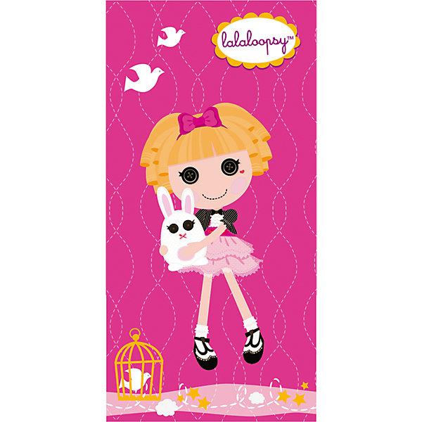 Полотенце Розовая куколка,  50*90 см, LalaloopsyПляжные полотенца<br>Мягкое, приятное на ощупь детское полотенце Розовая куколка, Lalaloopsy порадует и поднимет настроение Вашей девочке. Полотенце выполнено из махры и велюра, состоящих 100% хлопка и украшено ярким изображением популярной куколки Lalaloopsy (Лалалупси) и ее питомца - кролика. Прекрасно впитывает влагу, обладает высокой теплозащитой.<br><br>Дополнительная информация:<br><br>- Материал: махра и велюр из 100% хлопка. <br>- Цвет: розовый.<br>- Размер: 50 х 90 см.<br>- Вес: 0,30 кг.<br><br>Полотенце Розовая куколка, Lalaloopsy, можно купить в нашем интернет-магазине.<br>Ширина мм: 400; Глубина мм: 250; Высота мм: 10; Вес г: 250; Возраст от месяцев: 36; Возраст до месяцев: 180; Пол: Женский; Возраст: Детский; SKU: 3972070;