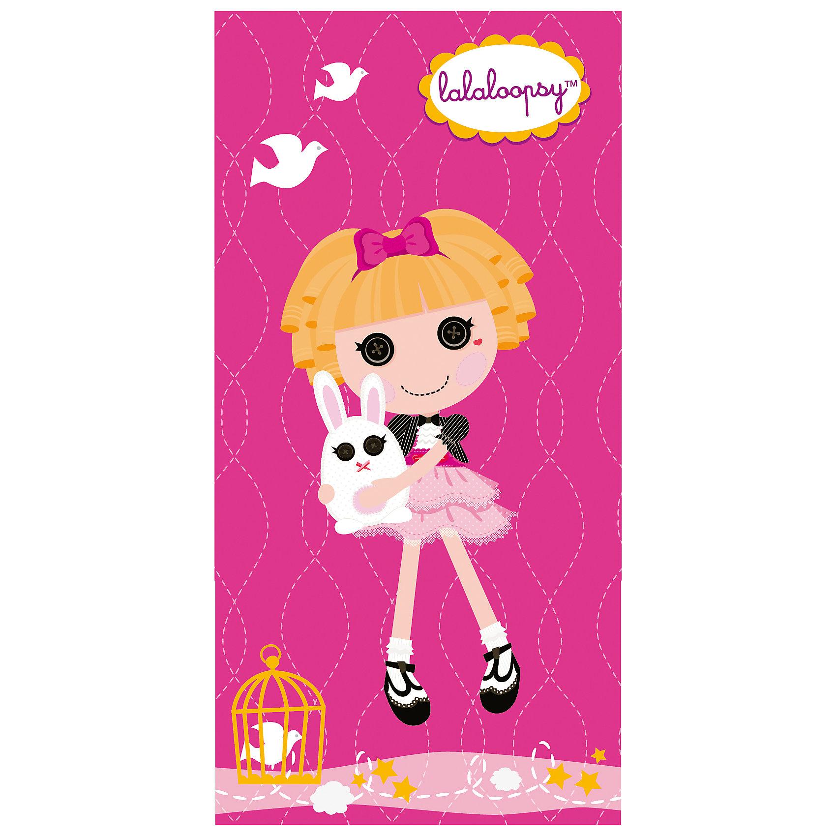 Полотенце Розовая куколка,  50*90 см, LalaloopsyПляжные полотенца<br>Мягкое, приятное на ощупь детское полотенце Розовая куколка, Lalaloopsy порадует и поднимет настроение Вашей девочке. Полотенце выполнено из махры и велюра, состоящих 100% хлопка и украшено ярким изображением популярной куколки Lalaloopsy (Лалалупси) и ее питомца - кролика. Прекрасно впитывает влагу, обладает высокой теплозащитой.<br><br>Дополнительная информация:<br><br>- Материал: махра и велюр из 100% хлопка. <br>- Цвет: розовый.<br>- Размер: 50 х 90 см.<br>- Вес: 0,30 кг.<br><br>Полотенце Розовая куколка, Lalaloopsy, можно купить в нашем интернет-магазине.<br><br>Ширина мм: 400<br>Глубина мм: 250<br>Высота мм: 10<br>Вес г: 250<br>Возраст от месяцев: 36<br>Возраст до месяцев: 180<br>Пол: Женский<br>Возраст: Детский<br>SKU: 3972070