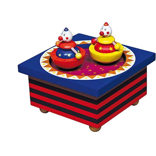 Музыкальная шкатулка Цирк, TrousselierДетские предметы интерьера<br>Чудесная музыкальная шкатулка Цирк, Trousselier, станет замечательным подарком для девочки любого возраста. Малышек от 3 лет она заинтересует как забавная музыкальная игрушка, девочек постарше - как изысканный модный аксессуар для украшения интерьера. <br>На крышке расположились две яркие фигурки клоунов, стоит только завести шкатулку ключом, хранящемся на дне, как фигурки начинает плавно вращаться под мелодию Ф. Шуберта Серенада. Шкатулка также может послужить началом оригинальной коллекции музыкальных шкатулок. Упакована в подарочную коробку Trousselier. <br><br>Дополнительная информация:<br><br>- Материал: дерево.<br>- Размер шкатулки: 11,5 x 11,5 x 7 см.<br>- Размер упаковки: 13 х 13 х 11 см. <br>- Вес: 0,4 кг.<br><br>Музыкальную шкатулку Цирк, Trousselier, можно купить в нашем интернет-магазине.<br><br>Ширина мм: 111<br>Глубина мм: 111<br>Высота мм: 70<br>Вес г: 417<br>Возраст от месяцев: 0<br>Возраст до месяцев: 120<br>Пол: Унисекс<br>Возраст: Детский<br>SKU: 3972701