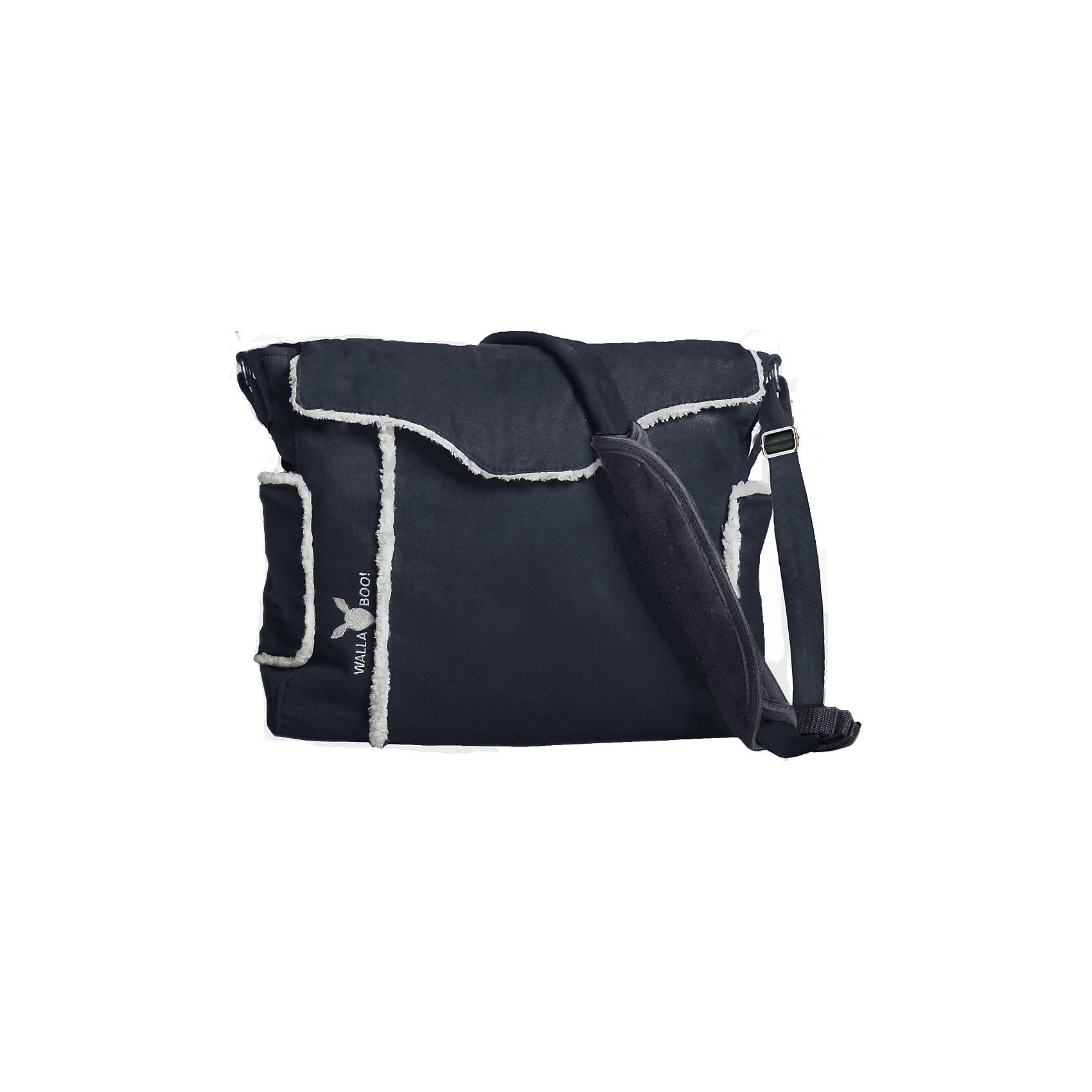 Сумка для мамы, Wallaboo, чёрныйСумка для мамы, Wallaboo (Валлабу), черная – это не только практичный, но и модный аксессуар, дополняющий стильный женский образ.<br>Сумка для мамы, Wallaboo сделана из красивой микроволокнистой замши в сочетании с декоративной отделкой из искусственного меха под шкурку ягненка — эта сумка дополнит гардероб стильной и современной мамы. <br>Каждая вещь для ухода за Вашим малышом найдет свое место. У сумки 5 карманов с молниями и без, 2 больших внутренних отделения. Сумка отлично сочетается с другими товарами от Wallaboo для детей, составляя стильные комплекты (конверты Лепесток, слинги и рюкзаки-переноски). Можно носить сумку на плече или легко пристегнуть на ручку коляски. Вы не сможете расстаться с этой стильной и удобной сумкой, даже когда Ваш малыш подрастет. Высокое качество производства изделий Wallaboo (Валлабу) позволит пользоваться сумкой очень долго!<br><br>Дополнительная информация:<br><br>- В комплекте: термо-карман для бутылочки, мягкий матрасик для смены подгузника, отдельная сумочка на «молнии» (можно использовать для чистых подгузников)<br>- Регулируемый ремень с мягкой вставкой для плеча<br>- Непромокаемая внутренняя подкладка идеальна в уходе<br>- Размеры: 36 см х 30 см х 12 см.<br>- Размеры в упаковке: 40х32х7 см.<br>- Вес изделия с упаковкой: 0,920 кг.<br><br>Сумку для мамы, Wallaboo (Валлабу), чёрную можно купить в нашем интернет-магазине.<br><br>Ширина мм: 400<br>Глубина мм: 320<br>Высота мм: 70<br>Вес г: 850<br>Цвет: черный<br>Возраст от месяцев: 0<br>Возраст до месяцев: 36<br>Пол: Унисекс<br>Возраст: Детский<br>SKU: 3973311