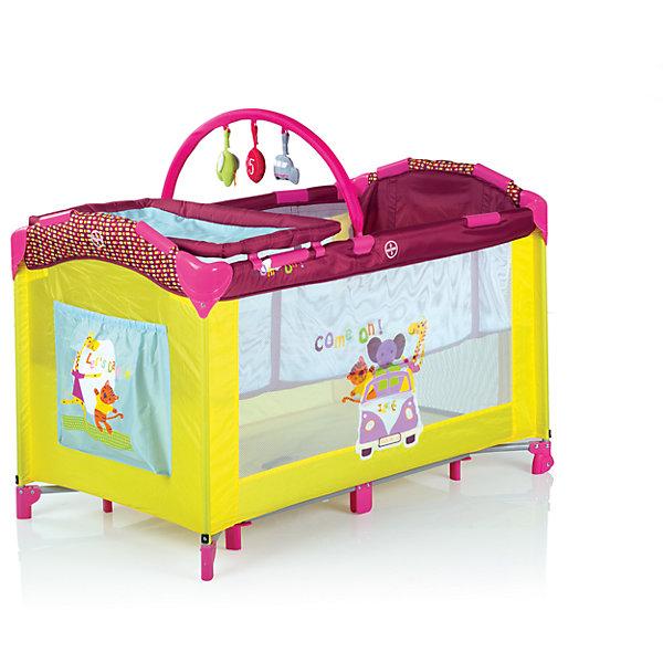 Манеж-кровать  Babies P-695I, BabiesДетские кроватки<br>Обожаете путешествовать с малышом - теперь все необходимое для комфорта крохи и родителей в одном манеже! Больше нет необходимости брать с собой огромное количество нужных младенцу вещей - все необходимое под рукой. Манеж Babies (Бэйбис) P-695I прекрасно подойдет для сна, игр, первых шагов и даже переодеваний! Без труда разложив манеж на новом месте Вы можете прикрепить второй уровень и превратить его в полноценную кроватку с матрасиком. Выспавшись кроха будет весело играть с подвесной дугой и пытаться встать, ухватившись за специальные кольца, удобные для маленькой ручки. Вы всегда без труда сможете наблюдать за крохой, благодаря прозрачным боковинам. Переодеть малыша очень легко благодаря съемному пеленальному столику. Колеса со стопорами позволят перемещать манеж с легкостью, поэтому малыш везде может следовать за Вами. Модель без труда складывается и не займет много места в машине.<br><br>Дополнительная информация:<br><br>- В комплекте: манеж, кольца-держатели, пеленальный столик, второй уровень-кроватка;<br>- Превращается в полноценную кроватку с матрасиком;<br>- Объемный карман для мелочей;<br>- Подходит для детей весом до 14 кг;<br>- В комплекте замечательные подвесные игрушки;<br>- Очень удобный механизм складывания-раскладывания; <br>- Жесткое дно необходимое для формирования правильной осанки;<br>- 2 колесика с фиксаторами;<br>- Антибактериальная обивка легко чистится;<br>- Отличный обзор;<br>- Можно брать с собой на природу в удобной сумке-переноске;<br>- В собранном виде очень компактный;<br>- Цвет: желтый/малиновый;<br>- Размер в разложенном виде:120 х 68 х 77 см;<br>- Вес: 12 кг<br><br>Манеж-кровать Babies P-695I, Babies (Бэйбис) можно купить в нашем интернет-магазине.<br><br>Ширина мм: 255<br>Глубина мм: 255<br>Высота мм: 760<br>Вес г: 13600<br>Возраст от месяцев: 0<br>Возраст до месяцев: 36<br>Пол: Унисекс<br>Возраст: Детский<br>SKU: 3973957