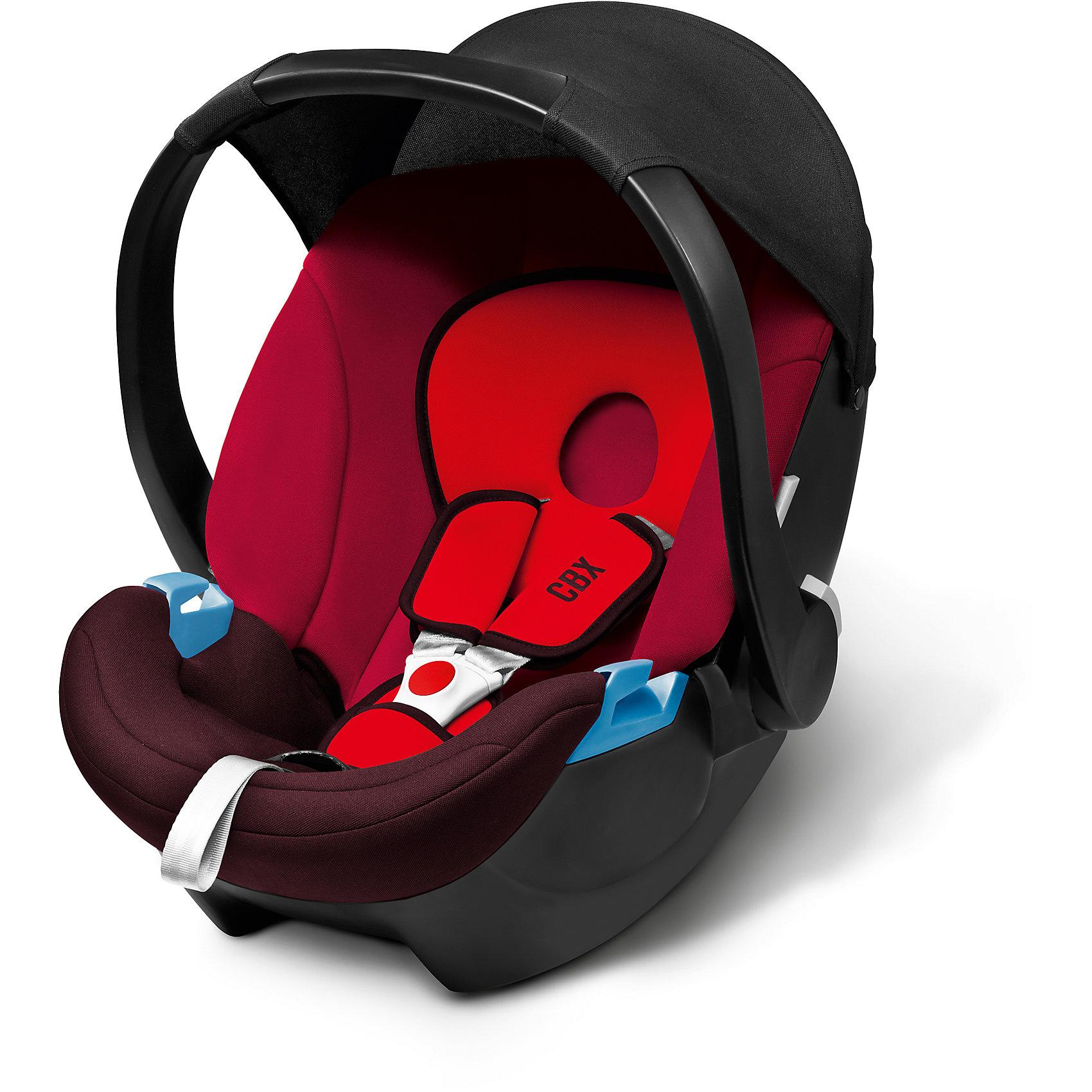 Автокресло Aton Basic, 0-13 кг, CBX by Cybex, Rumba RedАвтокресло Aton Basic Cybex (Атон Бейсик Сайбекс) создано специально для детей от рождения и до 1,5 лет. Очень важно, чтобы в этот период малышу было комфортно и он привык спать в дороге, тогда все дальнейшие поездки будут приносить только радость и ребенок не будет уставать. Купив кресло Aton Basiс Вы обеспечите крохе высочайший уровень безопасности, подтвержденный европейскими сертификатами и успешно пройденными краш-тестами. Несмотря на высокий уровень защиты, кресло чрезвычайно легкое, что очень порадует мам, которые часто путешествуют с малышом одни. Еще один немаловажный плюс: кресло очень легко крепится к колесной базе, благодаря чему, заснувшего в машине малыша не нужно тревожить, можно просто продолжить прогулку в коляске. Малышу будет очень удобно спать и бодрствовать в кресле, ведь в нем продумано все до мелочей: анатомическая съемная подушка, удобная база для качания, комфортные трехточечные ремни безопасности и козырек от солнца. Многофункциональная ручка легко устанавливается в трех положениях и сделает перемещение кресла еще более удобным.<br><br>Дополнительная информация:<br><br>- Соответствует Европейскому стандарту безопасности ЕСЕ R44/04;<br>- Группа: 0+ (0-13 кг);<br>- Легко крепится в автомобиле штатными ремнями против движения;<br>- Усиленная защита от бокового удара;<br>- Классный спортивный дизайн;<br>- Можно установить на шасси колясок CYBEX Callisto, Topaz и Onyx;<br>- Идеальная форма для укачивания малыша;<br>- Удобная ручка для переноски: 3 положения, нескользящая поверхность; <br>- Анатомическая подушка для новорожденных;<br>- Обивку легко снимать и стирать;<br>- Большой, съемный и мягкий капор защитит от сквозняков  и шума;<br>- Цвет: Rumba Red (черный/красный);<br>- Размер кресла: 63 x 44 x 55,5 см; <br>- Вес: 2,9 кг<br><br>Автокресло Aton Basic, 0-13 кг, CBX by Cybex, Rumba Red (Атон Бейсик Сайбекс) можно купить в нашем интернет-магазине.<br><br>Ширина мм: 530<br>Глубина мм: 450<b