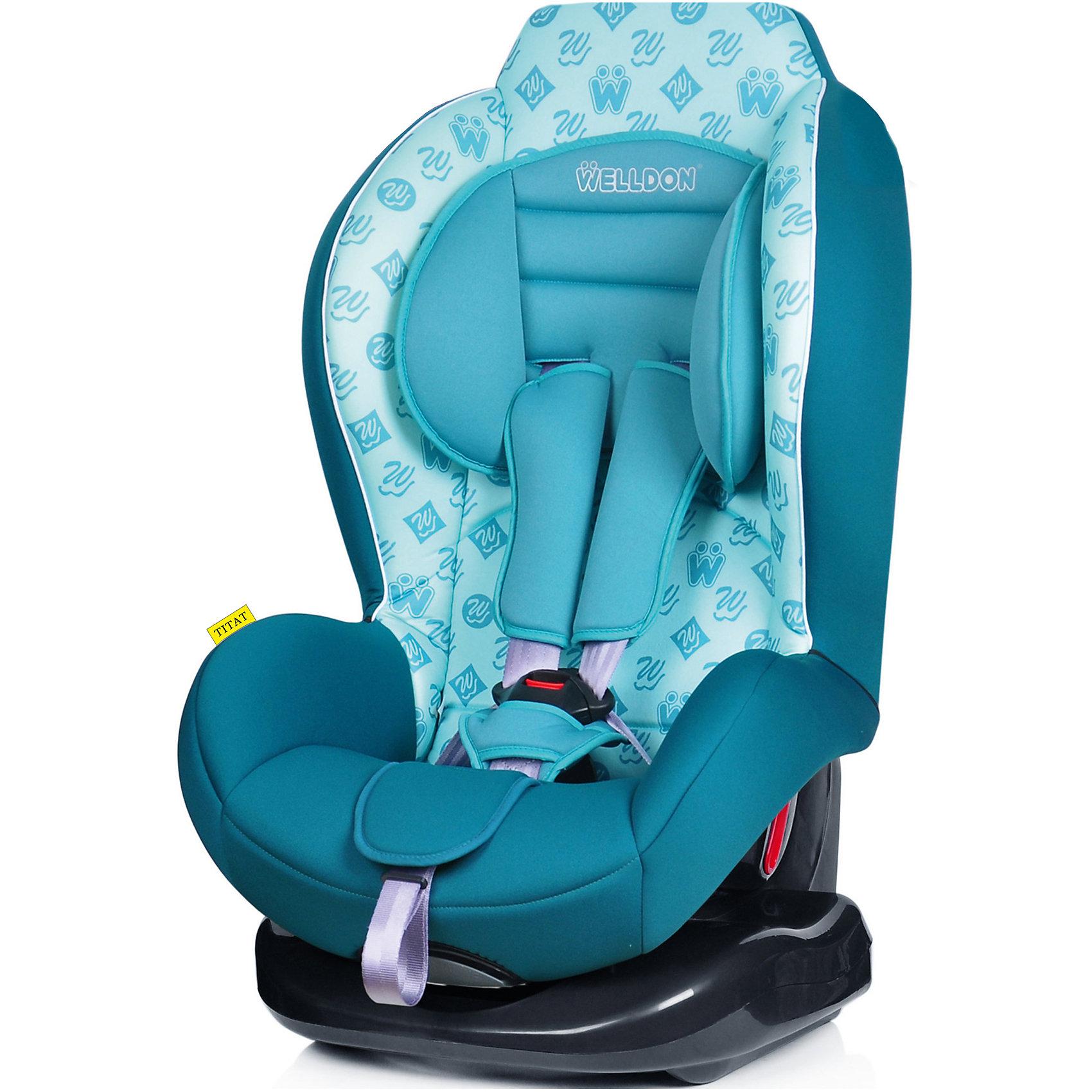 Автокресло Titat, 9-18 кг, Welldon, GreenНадежное и удобное автокресло Welldon Titat (Велдон Титат) поможет Вам с комфортом перевозить ребенка от года до 4 лет. Высокий уровень безопасности обеспечат: литая чаша кресла, усиленная боковая защита и регулируемый подголовник, который поддержит голову ребенка в безопасном положении даже во время сна. Для удобства совсем маленьких деток предусмотрена анатомическая подушка и регулируемая спинка, которая так легко раскладывается, что Вы не потревожите уснувшего малыша. Когда ребенок подрастет его можно пристегивать штатными ремнями для большего удобства. У кресла Welldon Titat (Велдон Титат) классный дизайн, его легко устанавливать, а уход за ним не требует усилий благодаря съемной обивке, которую можно стирать.<br><br>Дополнительная информация:<br><br>- Соответствует Европейскому стандарту безопасности ЕСЕ R44/04;<br>- Группа: 1 (9-18 кг);<br>- Кресло надежно крепится в автомобиле штатными ремнями;<br>- Улучшенная боковая защита;<br>- Надежные пятиточечные ремни безопасности;<br>- Регулируемый наклон спинки - 5 положений;<br>- Регулируемый подголовник;<br>- Классный дизайн;<br>- Анатомическая подушка для маленьких детей;<br>- Обивку легко снимать и стирать;<br>- Цвет: Green;<br>- Размер кресла: 39 x 48 x 65 см; <br>- Вес: 6 кг.<br><br>Автокресло Welldon Titat (Велдон Титат), 9-18 кг, Welldon, Green, можно купить в нашем интернет-магазине.<br><br>Ширина мм: 920<br>Глубина мм: 470<br>Высота мм: 570<br>Вес г: 16000<br>Возраст от месяцев: 9<br>Возраст до месяцев: 48<br>Пол: Унисекс<br>Возраст: Детский<br>SKU: 3973980