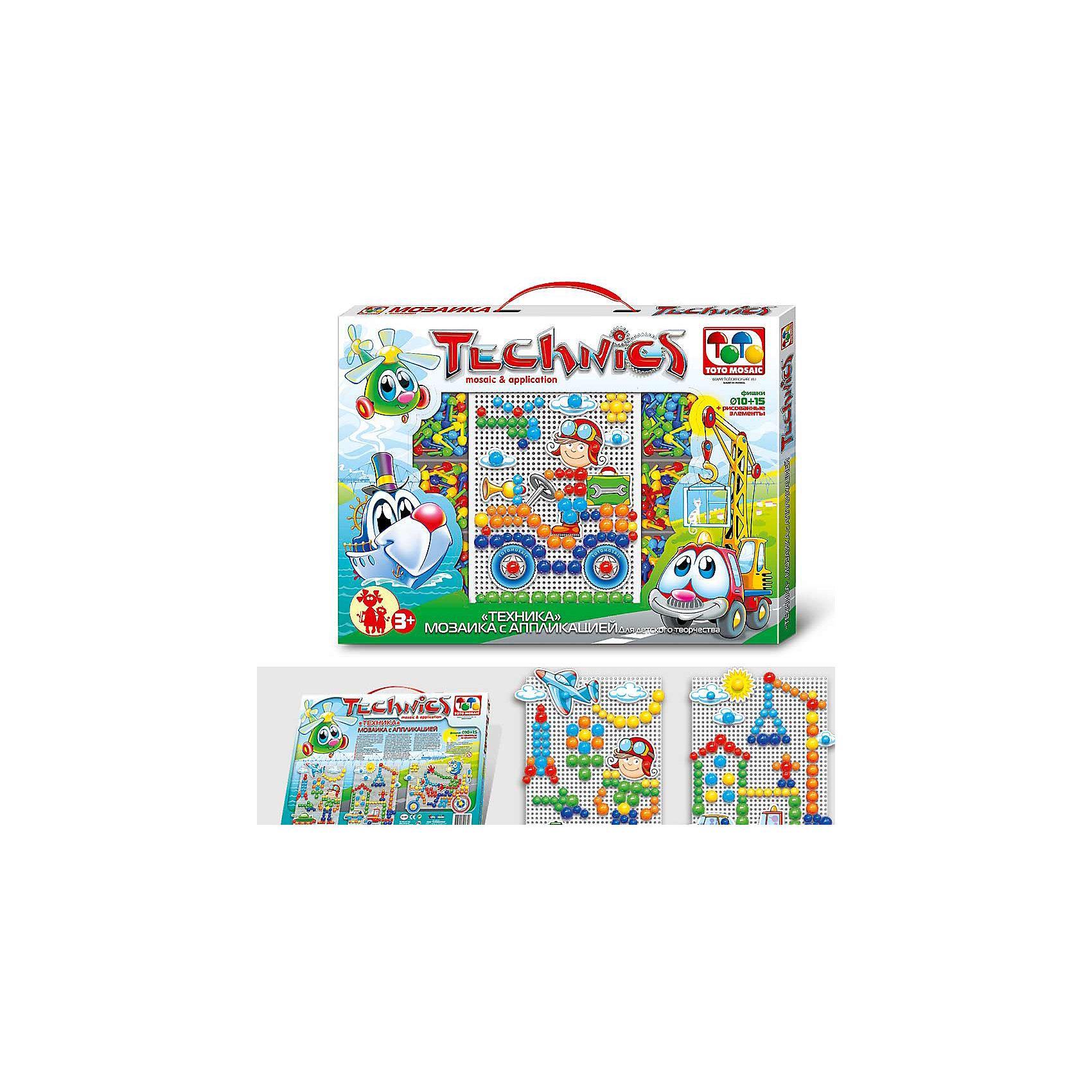 Мозаика с аппликацией Техника, 100 деталей, д. 10-15 мм, Toys UnionМозаика - самое увлекательное из развивающих занятий для детей! Мозаика полезна для детей всех возрастов, ведь помимо моторики, она развивает образное мышление и внимание. Мозаика Техника подойдет даже для любителей машин. Разные по размеру фишки помогут собрать разнофактурные картинки! Удобная основа в виде прямоугольника дает большие возможности для декорирования. Яркие элементы мозаики шести цветов и аппликации дают возможность сделать прекрасную картинку. Книжка со схемами и красивыми картинками поможет сделать замечательные работы. Для удобства хранения предусмотрены прозрачные контейнеры для фишек. Осваивайте мозаику вместе с малышом и получайте прекрасные работы в подарок!<br><br>Дополнительная информация:<br><br>- Развитие моторики и фантазии в игровой форме;<br>- Прямоугольная плата 21,3 х 15,7 см;<br>- 100 фишек;<br>- Прозрачные контейнеры для фишек;<br>- Диаметр фишек: 10-15 мм;<br>- Элементы аппликации;<br>- Прекрасный подарок;<br>- Размер упаковки: 41 х 30,7 х 2,5 см;<br>- Вес: 300 г<br><br>Мозаику с аппликацией Техника, 100 деталей, д. 10-15 мм, Toys Union можно купить в нашем интернет-магазине.<br><br>Ширина мм: 410<br>Глубина мм: 304<br>Высота мм: 25<br>Вес г: 300<br>Возраст от месяцев: 36<br>Возраст до месяцев: 96<br>Пол: Унисекс<br>Возраст: Детский<br>SKU: 3976522