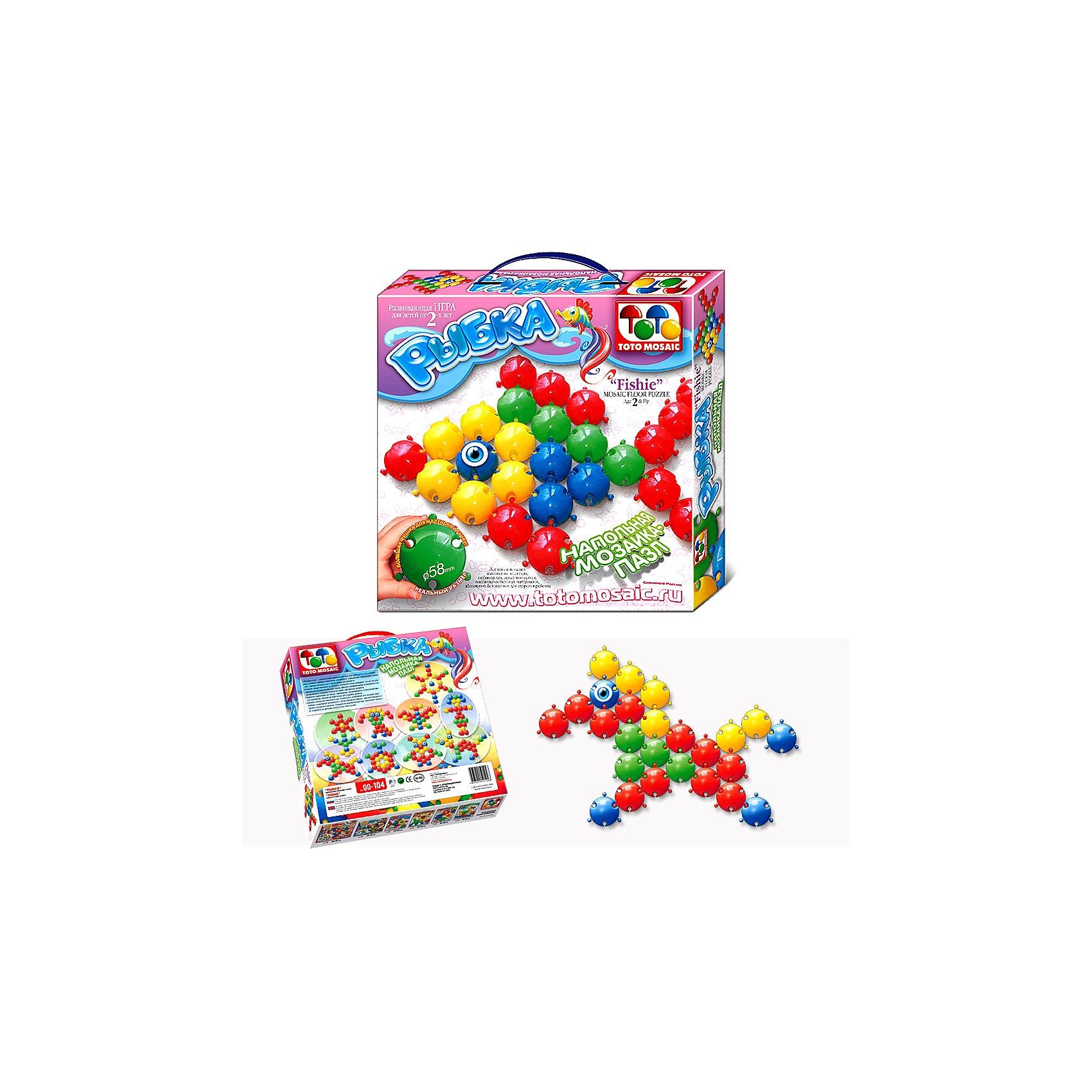 Toys Union Напольная мозаика Рыбка, 25 деталей, д. 58 мм, Toys Union toys union напольная мозаика рыбка 25 деталей д 58 мм toys union