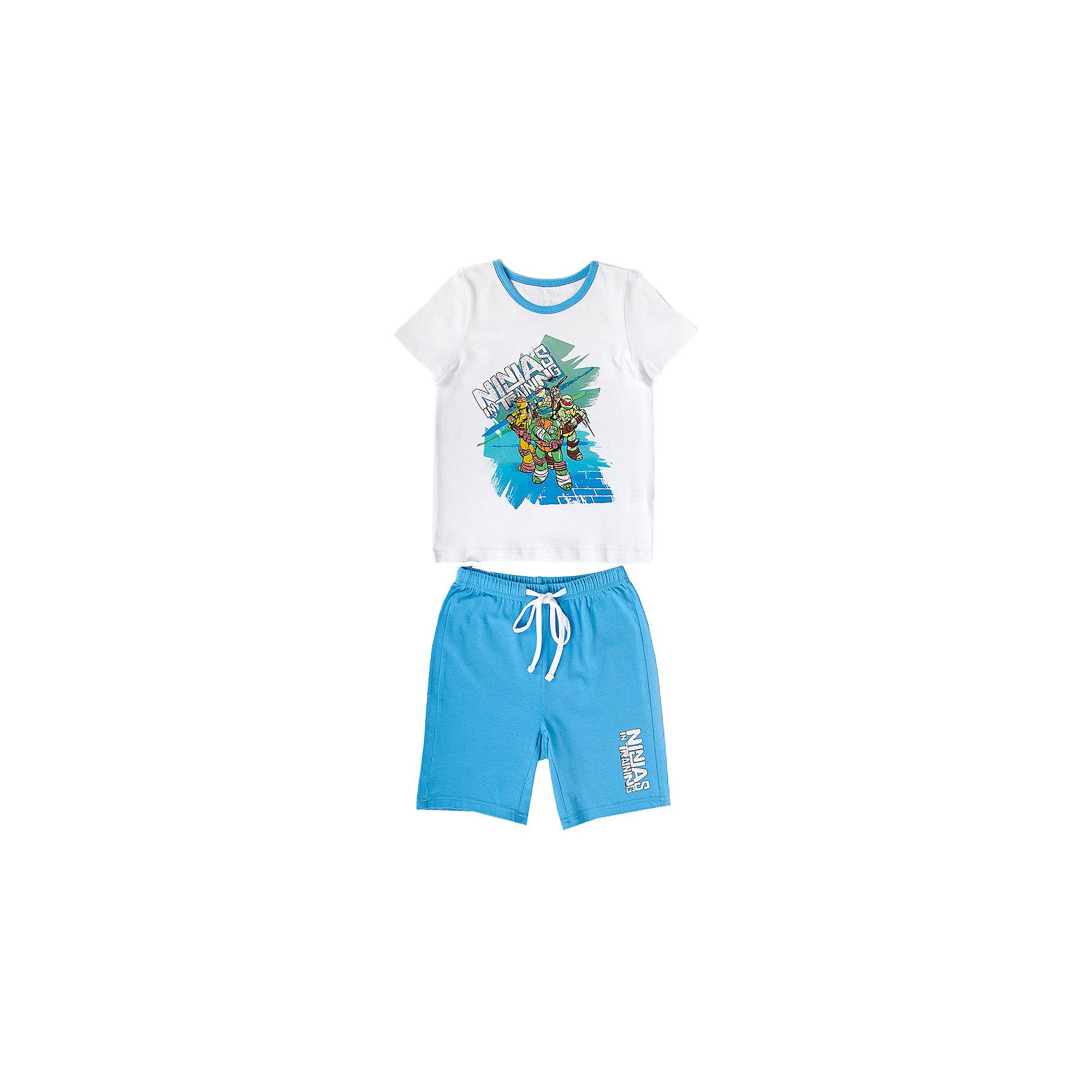 Button Blue Пижама для мальчика Черепашки ниндзя шапка для мальчика button blue цвет синий 217bbbx73054000 размер 52