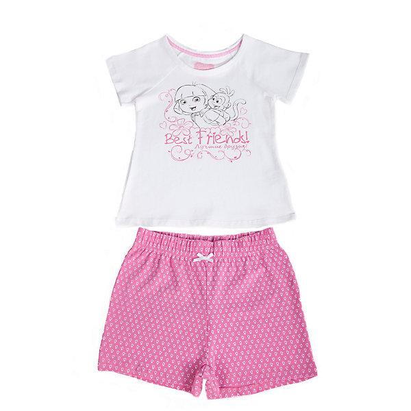 Пижама для девочки Даша-путешественницаПижамы и сорочки<br>Пижама для девочки от известного бренда Button Blue. <br>Состав: 95% хлопок, 5% эластан.<br><br>Размеры данного бренда маломерят. Рекомендуется заказывать на размер больше.<br>Ширина мм: 281; Глубина мм: 70; Высота мм: 188; Вес г: 295; Цвет: белый; Возраст от месяцев: 24; Возраст до месяцев: 36; Пол: Женский; Возраст: Детский; Размер: 98,128,116,104; SKU: 3977513;