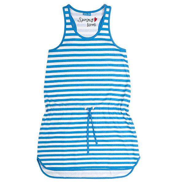 Платье для девочки Button BlueПлатья и сарафаны<br>Легкое летнее платье имеет силуэт борцовка и округлую линию низа. На талии - пояс-шнурок. Отличное решение для пляжного отдыха.<br>Состав:<br>100% хлопок<br><br>Размеры данного бренда маломерят. Рекомендуется заказывать на размер больше.<br><br>Ширина мм: 236<br>Глубина мм: 16<br>Высота мм: 184<br>Вес г: 177<br>Цвет: голубой<br>Возраст от месяцев: 84<br>Возраст до месяцев: 96<br>Пол: Женский<br>Возраст: Детский<br>Размер: 140,152,128,146,158,134<br>SKU: 3979383
