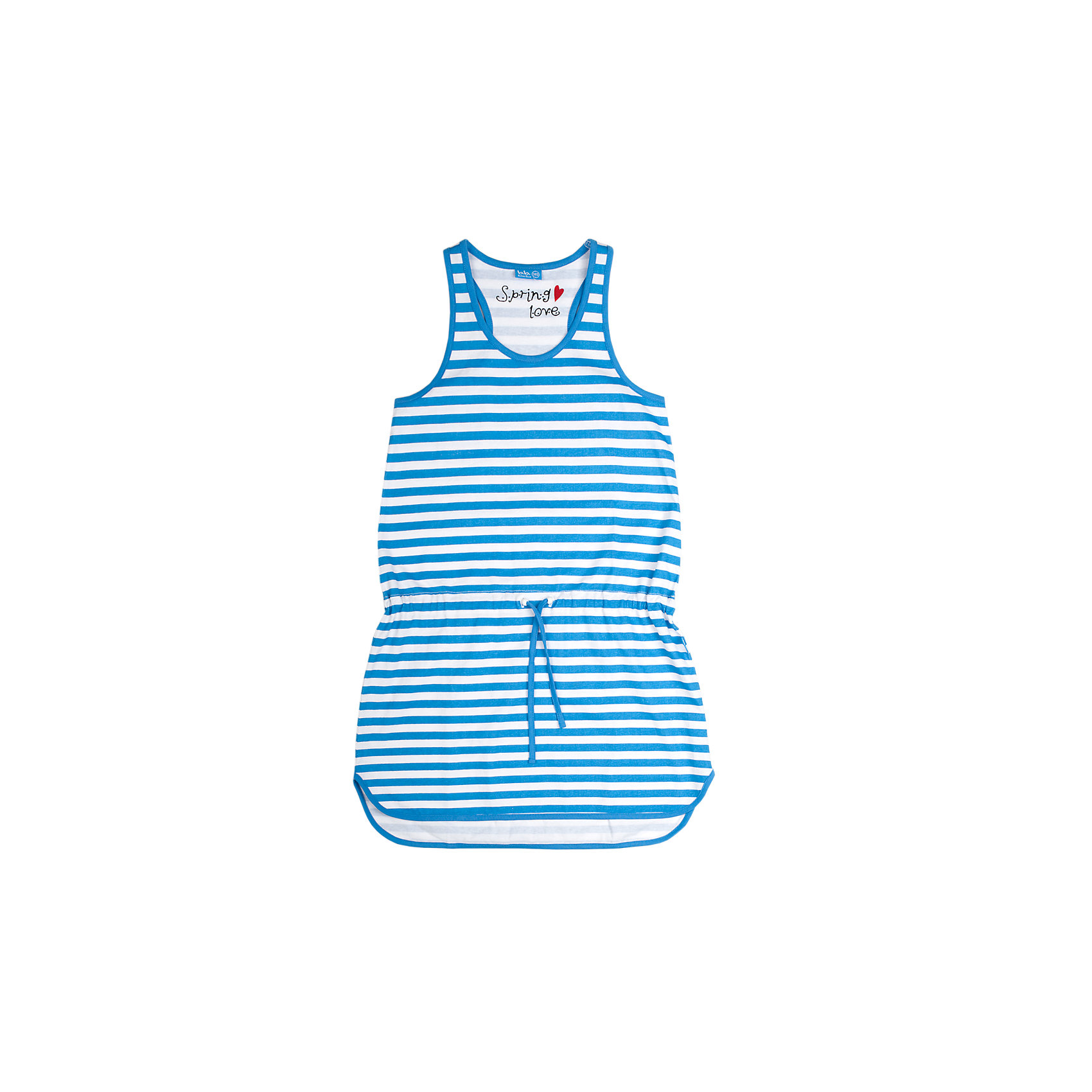 Платье для девочки Button BlueПлатья и сарафаны<br>Легкое летнее платье имеет силуэт борцовка и округлую линию низа. На талии - пояс-шнурок. Отличное решение для пляжного отдыха.<br>Состав:<br>100% хлопок<br><br>Размеры данного бренда маломерят. Рекомендуется заказывать на размер больше.<br><br>Ширина мм: 236<br>Глубина мм: 16<br>Высота мм: 184<br>Вес г: 177<br>Цвет: голубой<br>Возраст от месяцев: 108<br>Возраст до месяцев: 120<br>Пол: Женский<br>Возраст: Детский<br>Размер: 140,128,134,158,146,152<br>SKU: 3979383