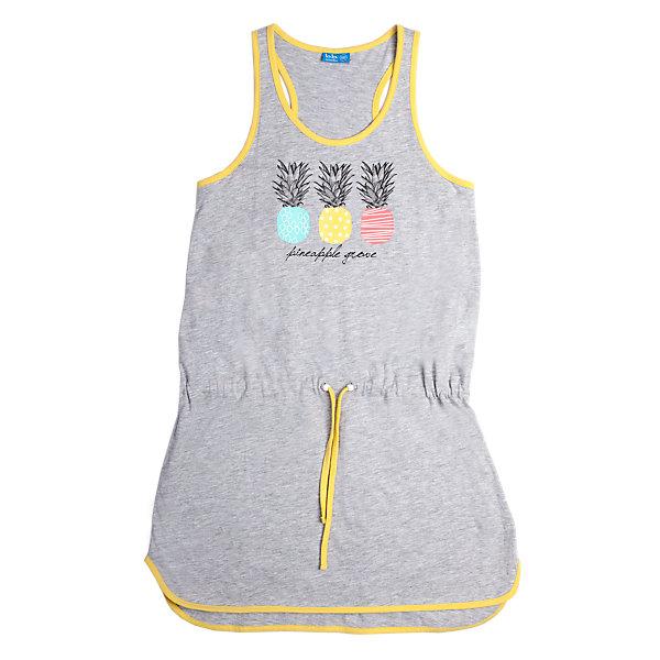 Платье для девочки Button BlueПлатья и сарафаны<br>Легкое летнее платье имеет силуэт борцовка и округлую линию низа. На талии - пояс-шнурок, а на полочке привлекательный принт. Горловина и плечи отделаны контрастным кантом. Отличное решение для пляжного отдыха.<br>Состав:<br>95% хлопок 5%вискоза<br><br>Размеры данного бренда маломерят. Рекомендуется заказывать на размер больше.<br>Ширина мм: 236; Глубина мм: 16; Высота мм: 184; Вес г: 177; Цвет: серый; Возраст от месяцев: 108; Возраст до месяцев: 120; Пол: Женский; Возраст: Детский; Размер: 140,128,134,158,146,152; SKU: 3979390;