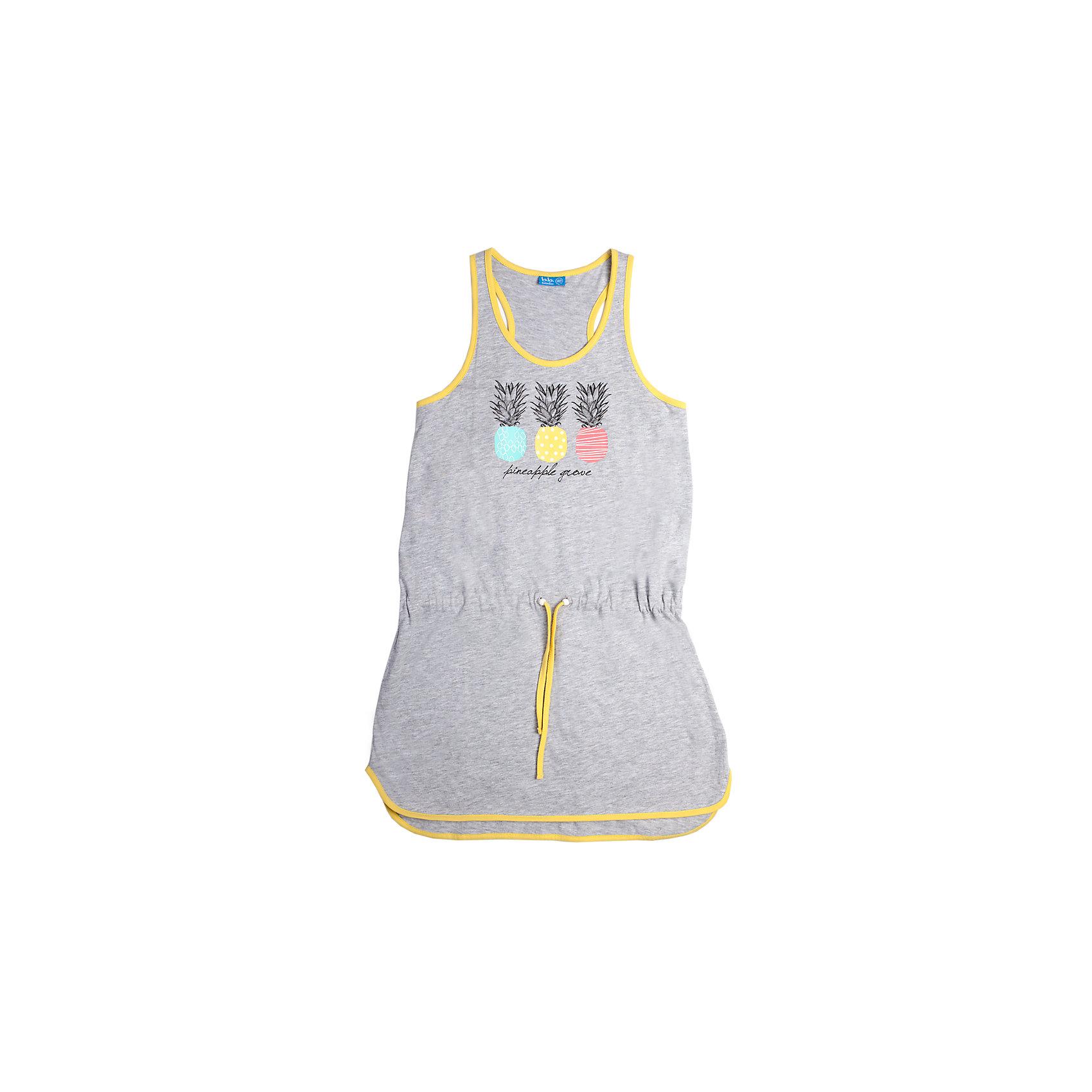 Платье для девочки Button BlueПлатья и сарафаны<br>Легкое летнее платье имеет силуэт борцовка и округлую линию низа. На талии - пояс-шнурок, а на полочке привлекательный принт. Горловина и плечи отделаны контрастным кантом. Отличное решение для пляжного отдыха.<br>Состав:<br>95% хлопок 5%вискоза<br><br>Размеры данного бренда маломерят. Рекомендуется заказывать на размер больше.<br><br>Ширина мм: 236<br>Глубина мм: 16<br>Высота мм: 184<br>Вес г: 177<br>Цвет: серый<br>Возраст от месяцев: 84<br>Возраст до месяцев: 96<br>Пол: Женский<br>Возраст: Детский<br>Размер: 128,152,146,140,158,134<br>SKU: 3979390