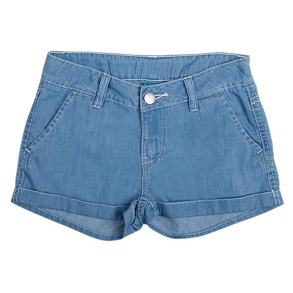 Шорты джинсовые для девочки Button BlueДжинсовая одежда<br>Классические шорты для девочки из джинсовой ткани хорошо облегают фигуру и  не сковывают движения. Прекрасно сочетаются с футболками и топами.<br>Состав:<br>100% хлопок<br><br>Размеры данного бренда маломерят. Рекомендуется заказывать на размер больше.<br><br>Ширина мм: 191<br>Глубина мм: 10<br>Высота мм: 175<br>Вес г: 273<br>Цвет: голубой<br>Возраст от месяцев: 120<br>Возраст до месяцев: 132<br>Пол: Женский<br>Возраст: Детский<br>Размер: 146,134,158,140,152,128<br>SKU: 3979404