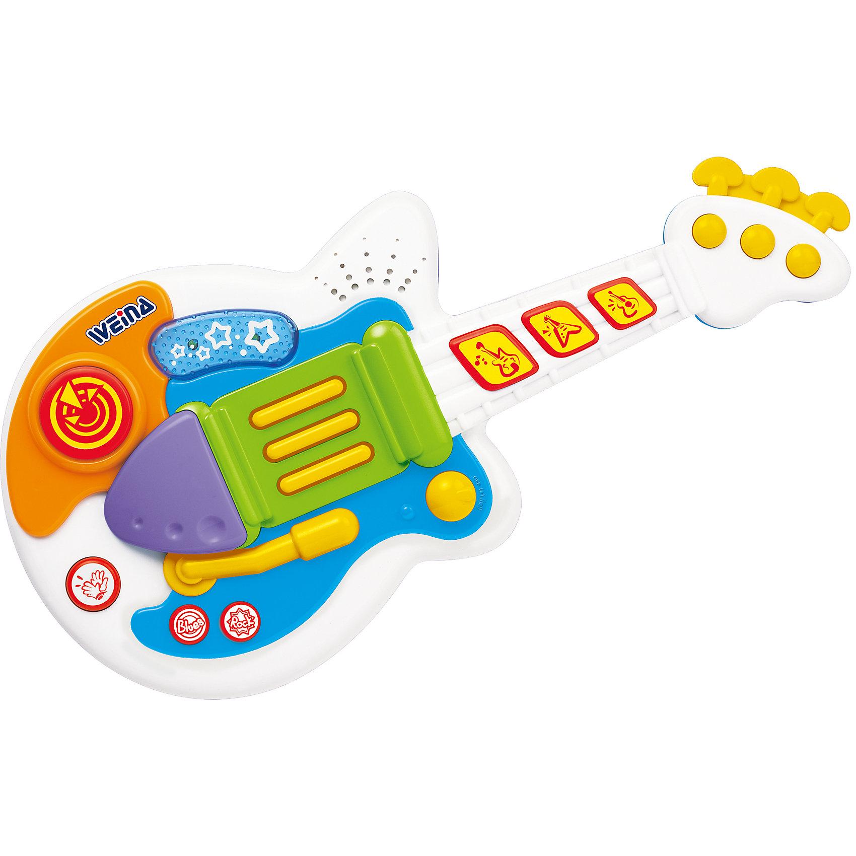 Гитара Рок музыкант, WeinaМалыши обожают собственные музыкальные инструменты! Они подражают настоящим музыкантам, но вместе с тем развивают слух и чувство ритма. Рок-гитара от  Weina создана для будущих звезд. Стоит малышу нажать на клавишу и он услышит замечательные мелодии, а еще сможет попробовать разные эффекты. Непременно попросите малыша выступить перед гостями, он услышит аплодисменты и обязательно захочет научиться играть на настоящем инструменте!<br><br>Дополнительная информация:<br><br>- Отлично подходит для развития музыкальных навыков;<br>- Звуковые и световые эффекты;<br>- Выбор стиля: рок или блюз;<br>- 2 батарейки AA (1.5 В) входят в комплект;<br> Размеры упаковки: 46,5 х 7 х 25,5 см.<br><br>Рок гитару, Weina можно купить в нашем интернет-магазине.<br><br>Ширина мм: 670<br>Глубина мм: 570<br>Высота мм: 240<br>Вес г: 5200<br>Возраст от месяцев: 24<br>Возраст до месяцев: 72<br>Пол: Унисекс<br>Возраст: Детский<br>SKU: 3979982