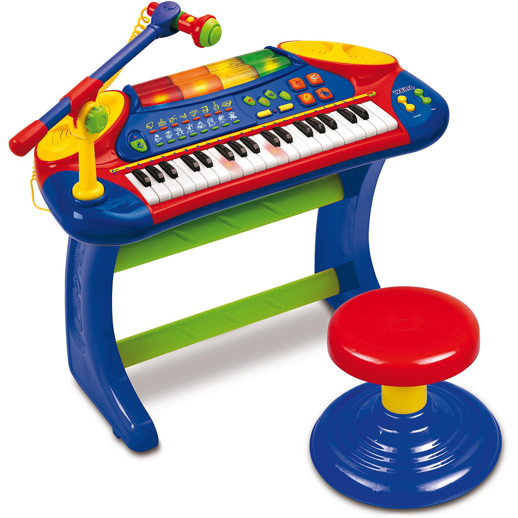Электронное пианино со стульчиком, Weina