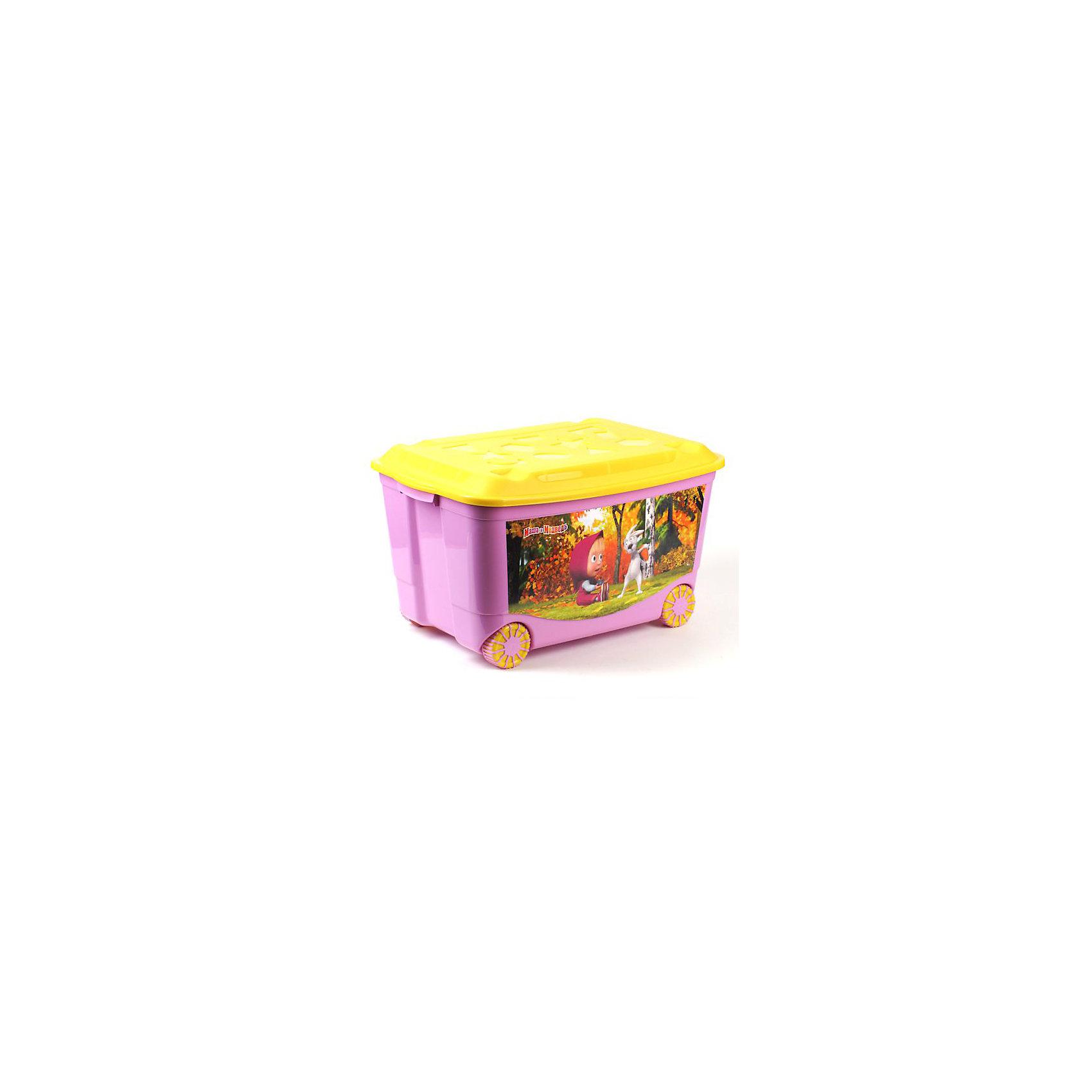 - Ящик для игрушек на колесах Маша и Медведь, сиреневый автодома на колесах бу купить в испании
