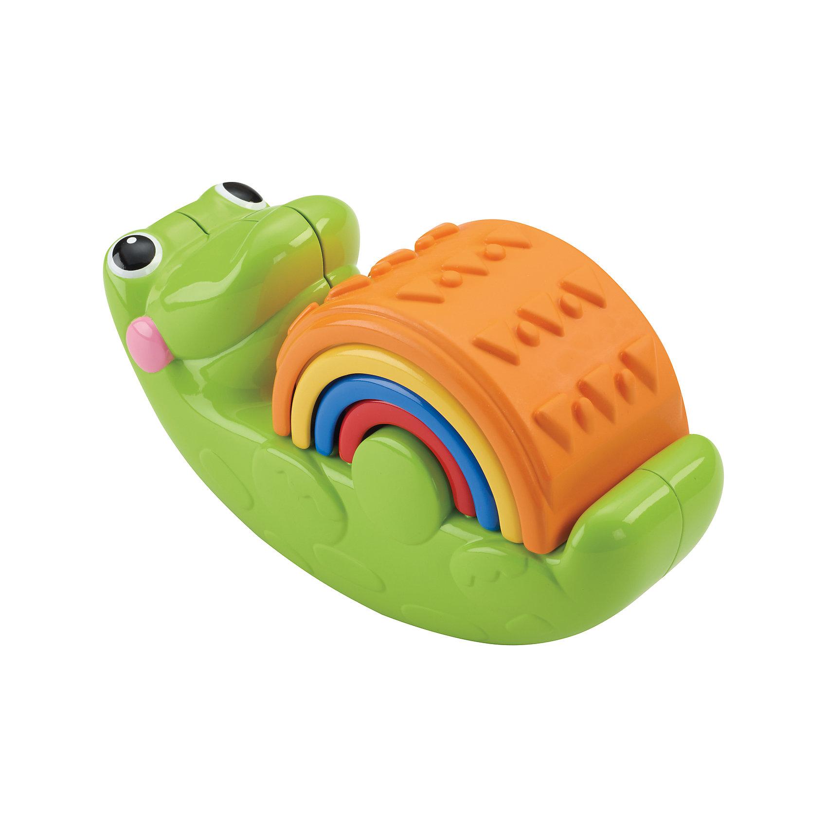 Пирамидка Крокодильчик, Fisher-PriceРазвивающие игрушки<br>С веселым крокодильчиком не соскучишься. Четыре части этой игрушки<br>можно складывать и раскладывать в самых разных вариациях. Кроме того, крокодильчик умеет весело раскачиваться, что обязательно позабавит вашего кроху. Раскладывая дуги по размеру, от большей к меньшей и наоборот, ребенок учится анализировать и решать задачи. Игрушка развивает мелкую моторику рук, цветовосприятие, зрительно-двигательную координацию,  внимание. Пирамидка изготовлена из высококачественных гипоаллергенных материалов безопасных для детей.<br><br>Дополнительная информация:<br><br>- Материал: пластик.<br>- Комплектация: крокодильчик, 4 дуги.<br><br>Пирамидку Крокодильчик, Fisher-Price (Фишер Прайс), можно купить в нашем магазине.<br><br>Ширина мм: 210<br>Глубина мм: 90<br>Высота мм: 170<br>Вес г: 404<br>Возраст от месяцев: 12<br>Возраст до месяцев: 36<br>Пол: Унисекс<br>Возраст: Детский<br>SKU: 3985773