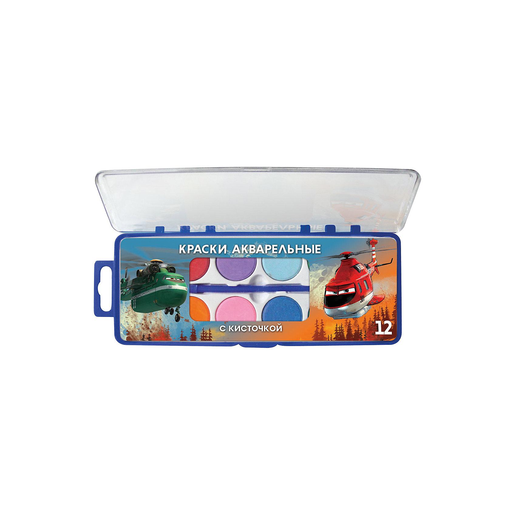 Акварельные краски, 12 цветов, Самолеты 2Самолеты<br>Акварельные краски, 12 цветов, Самолеты 2 – это краски на водной основе идеальны для начинающих художников.<br>Акварельные краски Самолеты (Planes) хорошо подойдут как для школьных занятий, так и для детского творчества в свободное время. В наборе 12 акварельных красок и кисточка, упакованных в пластиковый пенал. Краски имеют яркие насыщенные цвета, легко размываются, создавая прозрачный цветной слой, легко смешиваются между собой, не крошатся и не смазываются, быстро сохнут. Краски изготовлены из натуральных компонентов и абсолютно безвредны. Легко отмываются от рук и отстирываются от одежды. В процессе рисования у детей развивается наглядно-образное мышление, воображение, мелкая моторика рук, творческие и художественные способности, вырабатывается усидчивость и аккуратность.<br><br>Дополнительная информация:<br><br>- В наборе: краски 12 цветов, кисточка<br>- Размер упаковки: 24 х 8 х 1,5 см.<br>- Вес: 132 гр.<br><br>Акварельные краски, 12 цветов, Самолеты 2 (Planes) можно купить в нашем интернет-магазине.<br><br>Ширина мм: 15<br>Глубина мм: 240<br>Высота мм: 80<br>Вес г: 132<br>Возраст от месяцев: 48<br>Возраст до месяцев: 96<br>Пол: Унисекс<br>Возраст: Детский<br>SKU: 3986176