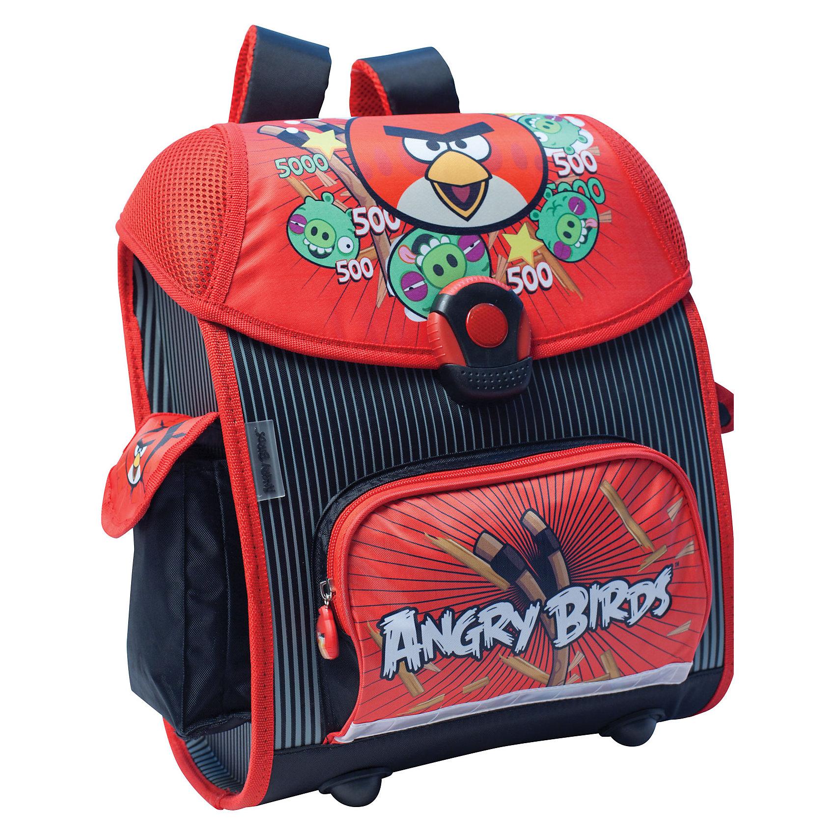 Школьный ранец Euro box с ортопедической спинкой, Angry BirdsРанец Euro box, EVA с ортопедической спинкой, Angry Birds – это удобный, надежный, долговечный, а главное - безопасный ранец.<br>Ранец Euro box популярная в Европе модель ранца для начальной школы. Модные дизайнерские решения с применением безопасных материалов прекрасно подойдут для каждого ребенка. Все элементы ранца продуманы до мелочей с максимальным комфортом для малыша. Жесткий корпус обеспечивает максимальную прочность конструкции. Ортопедическая спинка помогает равномерно распределить вес ранца. Прочное дно оборудовано ножками. Широкие уплотненные регулируемые лямки позволяют адаптировать ранец к изменению роста ребенка. У ранца 2 отделения, внутренний карман на молнии, карман на липучке и кармашек для визитки, большой передний карман на молнии и два боковых кармана для удобной системы хранения. Светоотражающие полосы и удобный замок со светоотражающей вставкой позволяют хорошо видеть ребенка на проезжей части в темное время суток и в сумерках.<br><br>Дополнительная информация:<br><br>- Размер: 37 х 33 х 22 см.<br>- Вес: 930 гр.<br>- Цвет: красный<br><br>Ранец Euro box, EVA с ортопедической спинкой, Angry Birds можно купить в нашем интернет-магазине.<br><br>Ширина мм: 370<br>Глубина мм: 310<br>Высота мм: 20<br>Вес г: 1375<br>Возраст от месяцев: 48<br>Возраст до месяцев: 96<br>Пол: Унисекс<br>Возраст: Детский<br>SKU: 3986182
