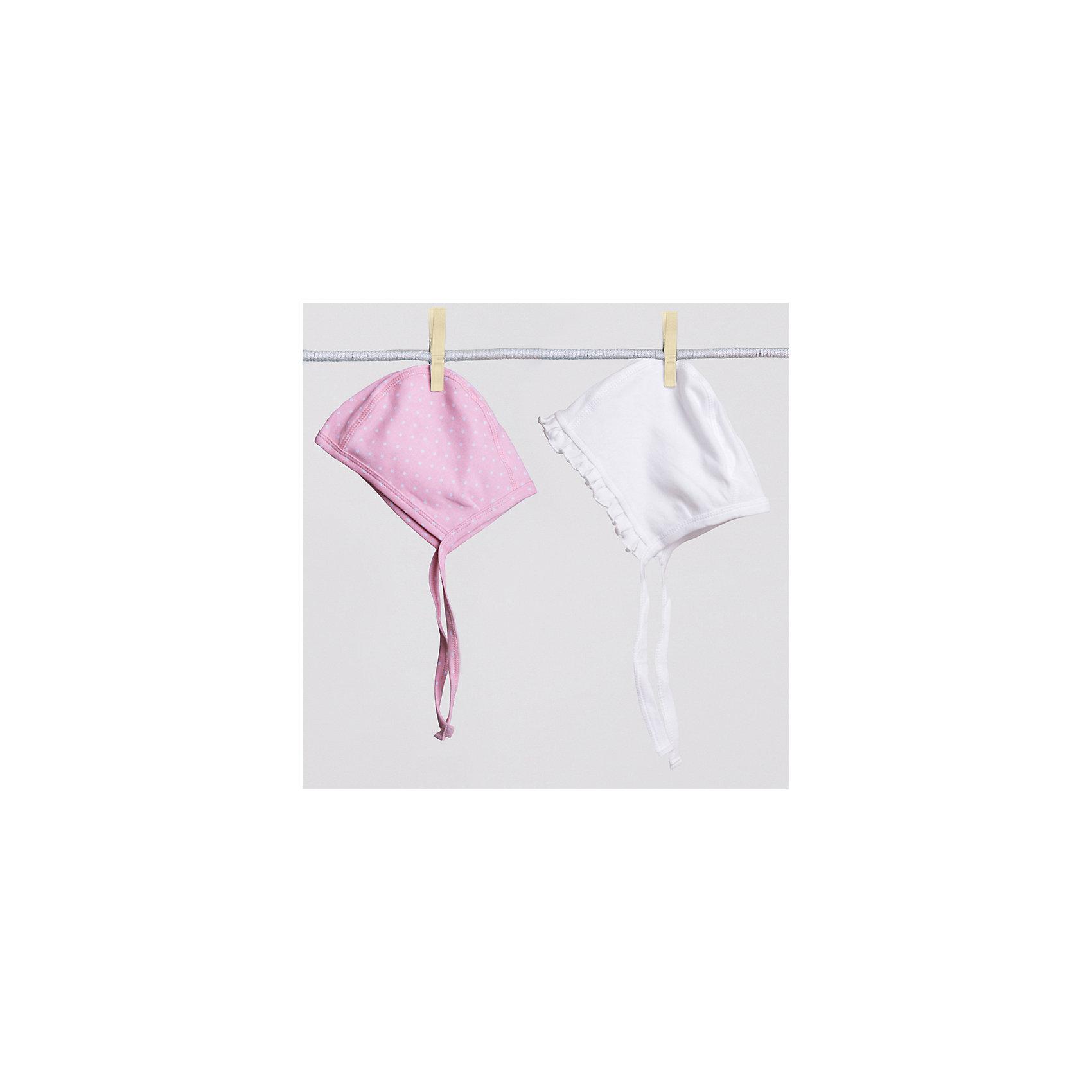Шапка для девочки (2 шт.) PlayTodayШапка для девочки (2 шт.) от известного бренда PlayToday. <br>Комплект из двух чепчиков из мягкой ткани. <br>Приятны к телу и надежно закрывают лоб и ушки малыша.<br>* высококачественный материал          <br>* два цветовых решения                       <br>* отличный вариант для повседневного использования <br>Состав: 100% хлопок<br><br>Ширина мм: 89<br>Глубина мм: 117<br>Высота мм: 44<br>Вес г: 155<br>Цвет: белый<br>Возраст от месяцев: 3<br>Возраст до месяцев: 6<br>Пол: Женский<br>Возраст: Детский<br>Размер: 42,44,40<br>SKU: 3987559