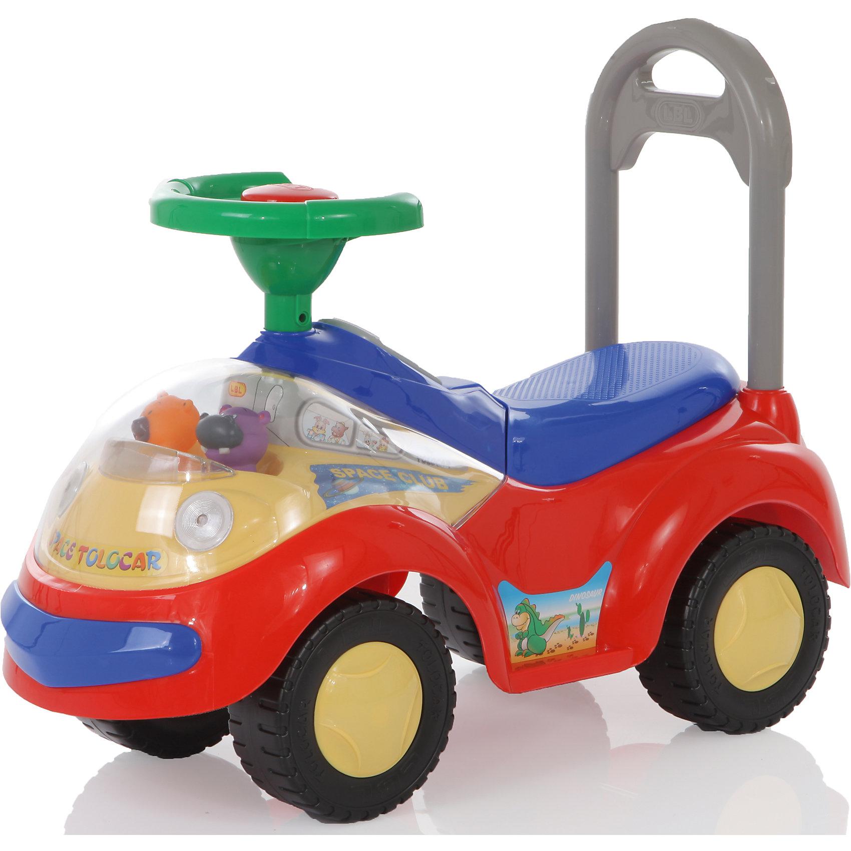 Каталка Space Tolocar, красная,  JetemКаталка Space Tolocar в виде симпатичного автомобиля обязательно понравится малышам. Она имеет удобное сиденье, руль и высокую спинку с ручкой. Когда ваш малыш подрастет и будет ходить, он может толкать игрушку впереди себя. Звуковые сигналы (мелодия, звук рожка и полицейской сирены) и световые эффекты (электрические фары и поворотники) обязательно заинтересуют кроху и добавят еще больше возможностей для игр. Под сиденьем есть емкость для хранения игрушек. На передней части машинки - забавные игрушки, которые покачиваются при движении. Машинка выполнена из высококачественных материалов, не имеет острых углов, безопасна для детей. Яркая каталка подарит море положительных эмоция и улыбок, а так же поможет развить у малыша, координацию, мышцы ног и моторику. <br><br>Дополнительная информация:<br><br>- Материал: пластик.<br>- Размер: 64 см x 28 см x 27 см.<br>- Цвет: красный.<br>- Звуковые, световые эффекты.<br>- Элемент питания: 3 батарейки АА (не входят в комплект).<br>- Максимальный вес ребенка: 27 кг<br><br>Каталку Space Tolocar, красную,  Jetem (Жетем) можно купить в нашем магазине.<br><br>Ширина мм: 660<br>Глубина мм: 280<br>Высота мм: 270<br>Вес г: 4500<br>Возраст от месяцев: 18<br>Возраст до месяцев: 36<br>Пол: Унисекс<br>Возраст: Детский<br>SKU: 3992540