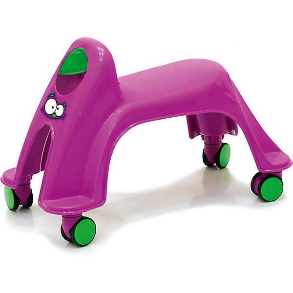 Каталка Smiley Neon Whirlee, фиолетоваяМашинки-каталки<br>Toy Monster Smiley Neon Whirlee - яркая, устойчивая каталка, выполненная таким образом, чтобы быть максимально безопасной и комфортной для малыша. У каталки отсутствуют острые углы и твердые травмоопасные детали. За счет естественной амортизации пластика малышу будет комфортно перемещаться на каталке. Модель не занимает много места, несколько каталок можно хранить пирамидкой. Яркая расцветка и оригинальный дизайн обязательно привлекут внимание малыша и подарят ему много положительных эмоций и улыбок. Каталка выполнена из прочных высококачественных материалов безопасных для детей.<br><br>Дополнительная информация:<br><br>- Материал: пластик.<br>- Размер: 44 х 29 х 22 см.<br>- Размер сиденья: 14 х 20 см.<br>- Цвет: фиолетовый.<br>- Максимальный вес ребенка: 27 кг<br><br>Каталку  Smiley Neon Whirlee, фиолетовую, можно купить в нашем магазине.<br>Ширина мм: 440; Глубина мм: 290; Высота мм: 220; Вес г: 1500; Возраст от месяцев: 12; Возраст до месяцев: 36; Пол: Унисекс; Возраст: Детский; SKU: 3992544;