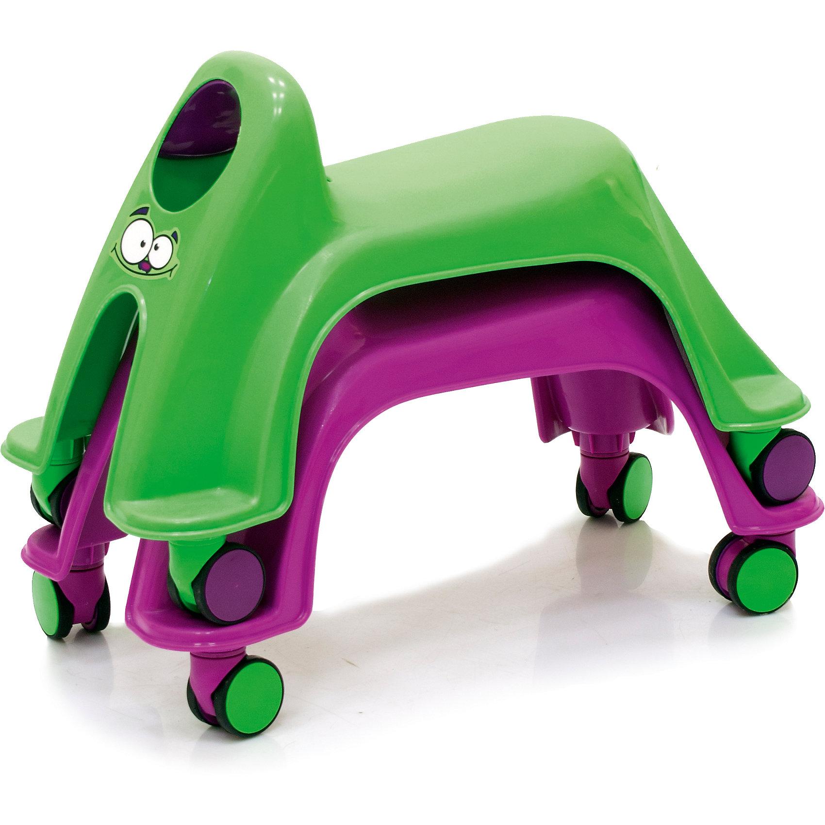 Каталка Smiley Neon Whirlee, фиолетовая от myToys
