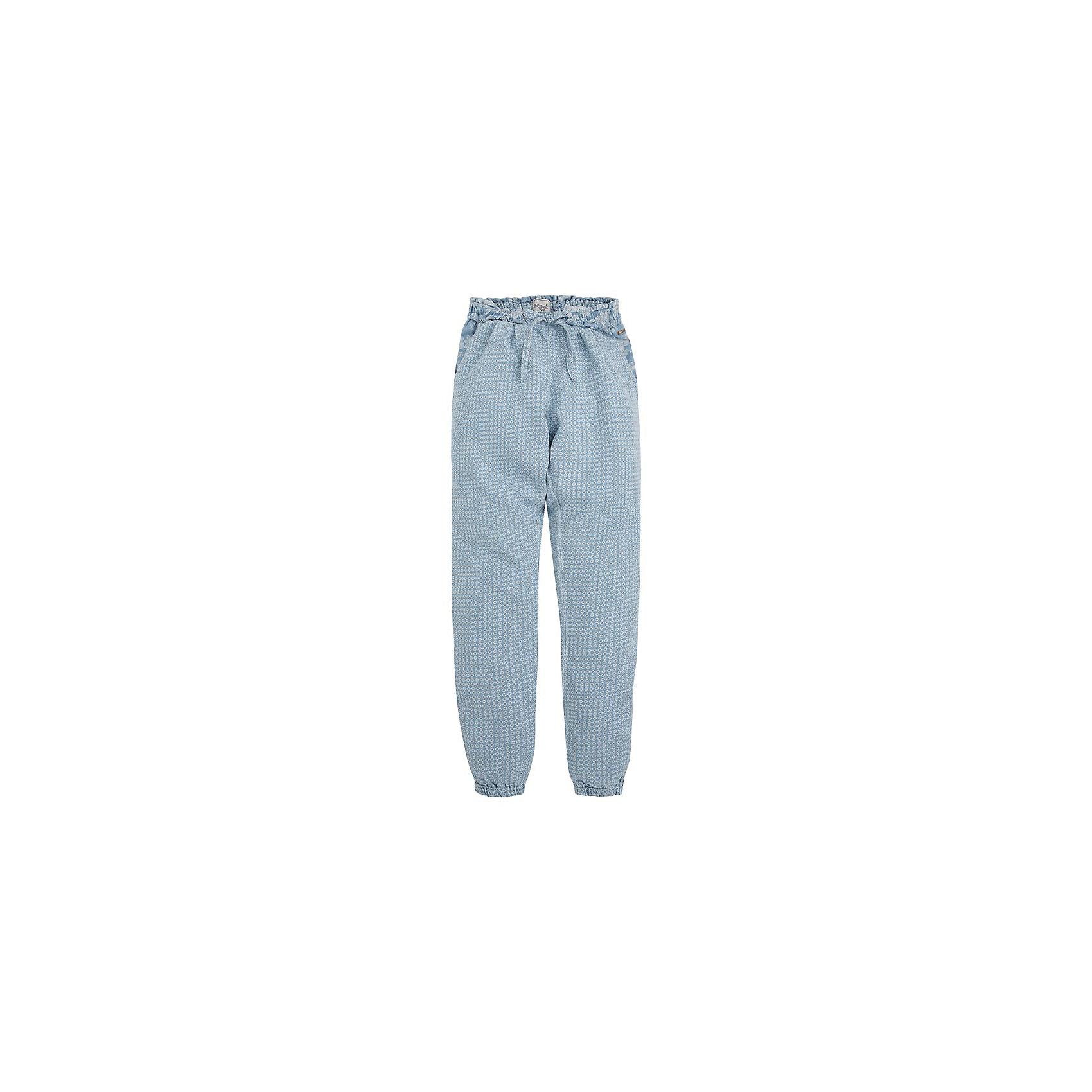 Брюки для девочки MayoralМягкие брюки от популярного испанского бренда Mayoral для девочки. Изделие выполнено из высококачественного материала, легкого и приятного к телу, и обладает следующими особенностями:<br>- нежная расцветка;<br>- широкий эластичный пояс;<br>- 2 боковых кармана;<br>- эластичные манжеты;<br>- свободный крой.<br><br>Дополнительная информация:<br>Состав: 63% хлопок, 37% вискозное волокно<br><br>Брюки для девочки Mayoral (Майорал) можно купить в нашем магазине<br><br>Ширина мм: 215<br>Глубина мм: 88<br>Высота мм: 191<br>Вес г: 336<br>Цвет: голубой<br>Возраст от месяцев: 144<br>Возраст до месяцев: 156<br>Пол: Женский<br>Возраст: Детский<br>Размер: 158,164,128,140,152<br>SKU: 3993736