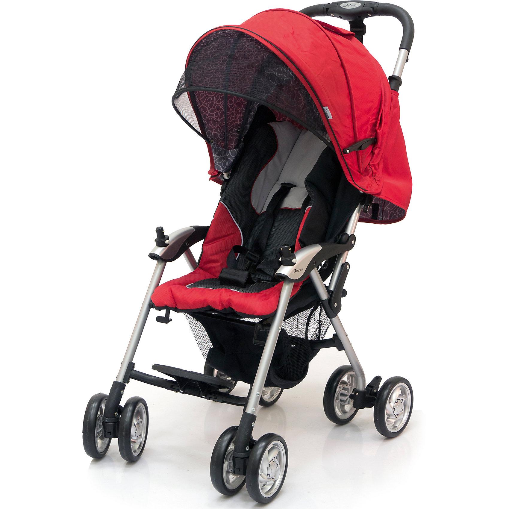 Jetem Прогулочная коляска Elegant, Jetem, черный/красный коляска трость jetem elegant dark grey blue полоска