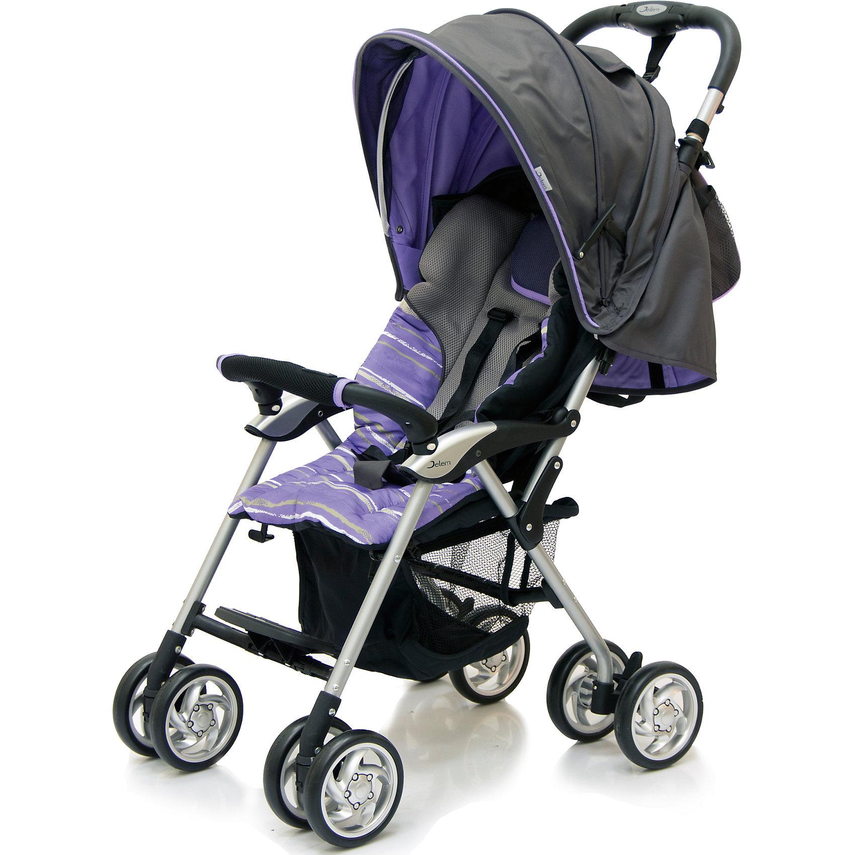 Jetem Прогулочная коляска Elegant, Jetem, темно-серый/фиолетовый, полоска коляска трость jetem elegant dark grey blue полоска