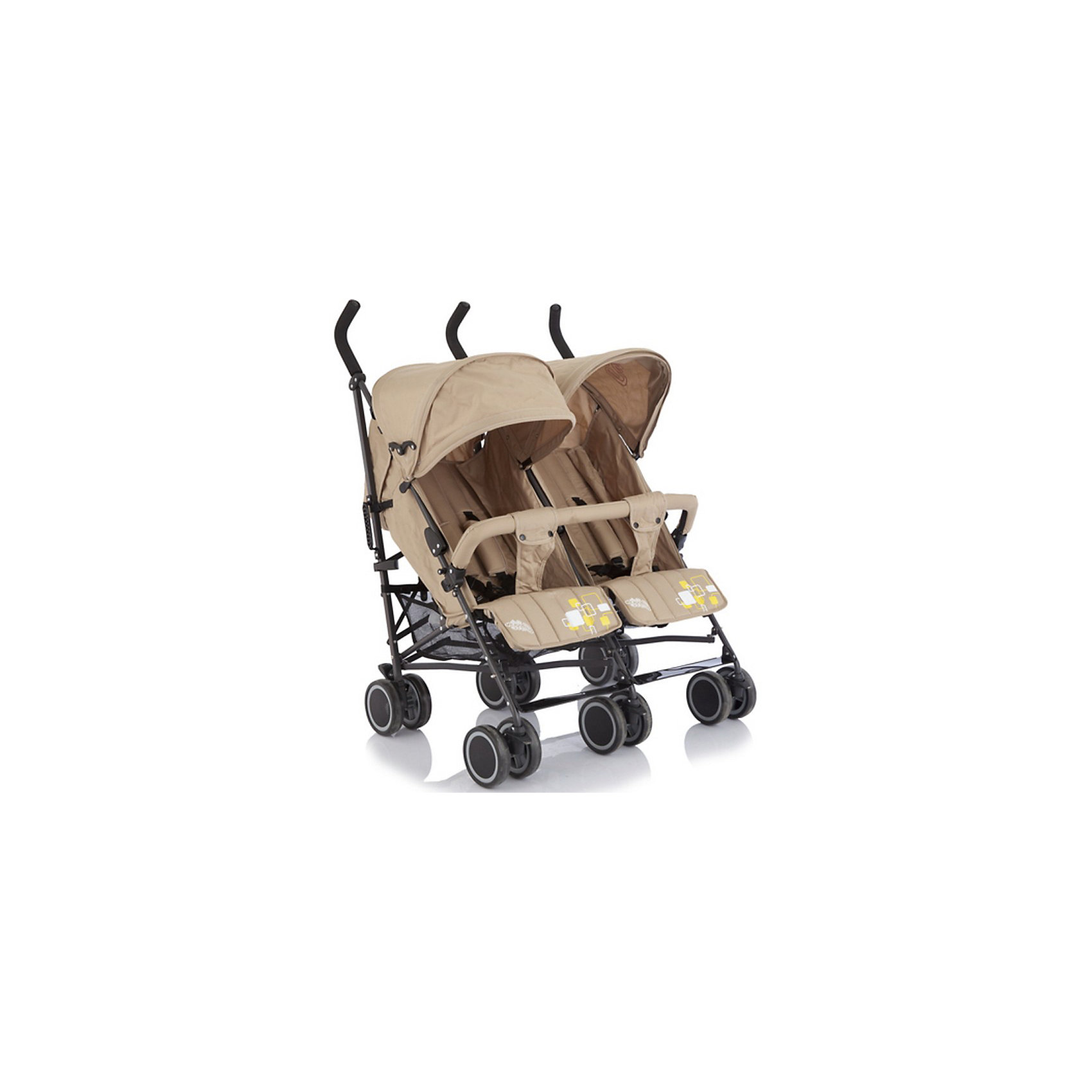 Коляска-трость для двойни Baby Care Citi Twin, хакиКоляски для двойни<br>Baby Care Citi Twin – сверхлегкая коляска-трость для двойни. Идеальный вариант для путешествий или летних городских прогулок.  Данная модель вобрала в себя весь необходимый функционал трости Baby Care City Style и значительно улучшила его. Рама установлена на шести парах сдвоенных колес, что делает ее максимально маневренной и устойчивой на любой поверхности. Спинки, подножки и глубокие козырьки на обоих сиденьях регулируются независимо друг от друга. Есть возможность получить два почти горизонтальных спальных места (до 170 градусов), для комфортного отдыха малышей. Бампер, как и чехол на ножки – один на двоих. Коляска легко и компактно складывается, имеет удобную ручку для переноски, занимает мало места при хранении и транспортировке.<br><br>Дополнительная информация:<br><br>- Для двойни.<br>- Расположение блоков: рядом.<br>- Механизм складывания: трость.<br>- Комплектация: коляска, чехол на ножки, дождевик.<br>- Материал: металл, пластик, текстиль, резина.<br>- Размер колесной базы: 85 см.<br>- Длина колесной базы: 53 см<br>- Ширина сидений: 34х19 см.<br>- Размер спального места: 78х34 см.<br>- Вес: 14 кг<br>- Количество колес: 6 (сдвоенные).<br>- Диаметр колес: 15 см.<br>- Цвет: хаки.<br>- Передние колеса поворотные, с возможностью блокировки.<br>- Стояночный тормоз.<br>- 5-ти точечные ремни безопасности.<br>- Съемный бампер.<br>- Регулировка спинки в 3 положениях. <br>- Регулируются независимо друг от друга: спинка, подножка, козырек.<br>- Один на двоих: бампер, чехол на ножки.<br>- Регулируемые подножки.<br>- Солнцезащитный козырек.<br>- Вместительная корзина для покупок.<br><br>Коляску-трость для двойни Citi Twin, Baby Care, хаки, можно купить в нашем магазине.<br><br>Ширина мм: 1060<br>Глубина мм: 390<br>Высота мм: 220<br>Вес г: 16000<br>Возраст от месяцев: 6<br>Возраст до месяцев: 36<br>Пол: Унисекс<br>Возраст: Детский<br>SKU: 3995831