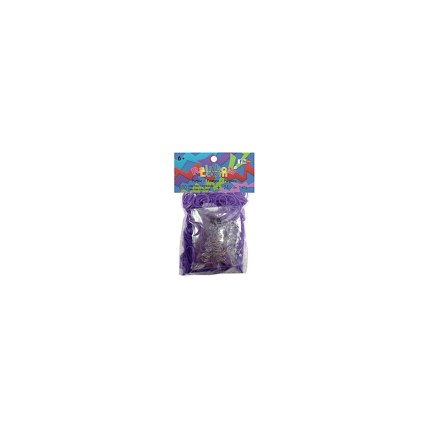 Фиолетовые резиночки (24 с-клипсы+600 резиночек), Rainbow LoomФиолетовые резиночки (24 с-клипсы+600 резиночек), Rainbow Loom (Рейнбоу Лум) – это оригинальный набор для детского творчества.<br>Набор миниатюрных резиночек Блестящие микс от Rainbow Loom (Рейнбоу Лум) привлечет девочку и поможет создать необычные украшения для себя и подруг. Резиночки приятно брать в руки, они хорошо тянутся, их удобно размещать на станке, плести руками или крючком. Яркими резиночками можно выделить определенные участки в браслете или игрушке, или выполнить поделку полностью из резиночек фиолетового цвета. Готовый браслет или ожерелье можно соединить при помощи с-клипс, входящих в набор. Плетение из резиночек увлекательное занятие, популярное во всем мире, с помощью которого можно создавать стильные украшения и запоминающиеся аксессуары. Этот вид творчества разовьет в ребенке усидчивость и кропотливость, креативное и дизайнерское мышление.<br><br>Дополнительная информация:<br><br>- В наборе: 600 резиночек, 24 пластиковых с-клипс<br>- Материал: пластик, резина<br>- Размер упаковки: 110 х 55 х 15 мм.<br>- Вес: 50 гр.<br><br>Фиолетовые резиночки (24 с-клипсы+600 резиночек), Rainbow Loom (Рейнбоу Лум) можно купить в нашем интернет-магазине.<br><br>Ширина мм: 110<br>Глубина мм: 55<br>Высота мм: 15<br>Вес г: 50<br>Возраст от месяцев: 72<br>Возраст до месяцев: 192<br>Пол: Унисекс<br>Возраст: Детский<br>SKU: 3996358