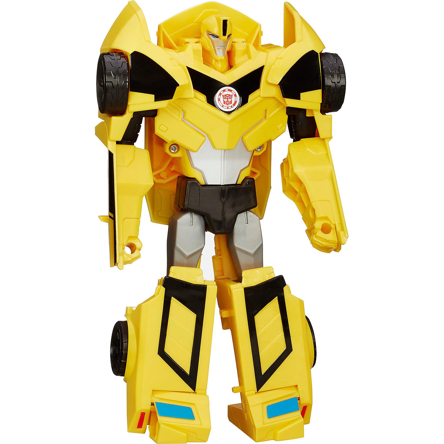 Бамблби, Роботс-ин-Дисгайс Гиперчэндж, ТрансформерыБамблби, Роботс-ин-Дисгайс Гиперчэндж  станет замечательным подарком для всех поклонников фильма Трансформеры (Transformers). Серия трансформеров Robots In Disguise 3-Step Changers создана по мотивам популярных фильмов и комиксов о роботах-трансформерах и включает в себя фигуры роботов, которые Вы легко сможете преобразовать в транспортное средство или мощный спортивный автомобиль.<br><br>В наборе Вы найдете фигуру робота-трансформера Бамблби (Bumblebee), который легко, с помощью всего трех движений, преобразуется в яркую и мощную машину с вращающимися колесами. Бамблби - один из главных и самых популярных персонажей Вселенной трансформеров. Фигурка отличается высокой степенью детализации и реалистичностью и полностью соответствует своему персонажу из фильма. <br><br>Дополнительная информация:<br><br>- Материал: пластик.<br>- Высота фигурки: 21 см.<br>- Размер упаковки: 20,3 x 22,9 x 7,9 см.<br>- Вес: 0,3 кг.<br><br>Игровой набор Бамблби, Роботс-ин-Дисгайс Гиперчэндж, Трансформеры, можно купить в нашем интернет-магазине.<br><br>Ширина мм: 79<br>Глубина мм: 203<br>Высота мм: 229<br>Вес г: 300<br>Возраст от месяцев: 72<br>Возраст до месяцев: 192<br>Пол: Мужской<br>Возраст: Детский<br>SKU: 3996385