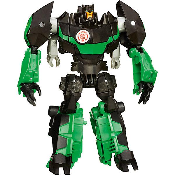 Гримлок, Роботс-ин-Дисгайс Войны, ТрансформерыТрансформеры-игрушки<br>Гримлок, Роботс-ин-Дисгайс Войны ( Robots In Disguise Warrior Class)  не оставит равнодушными всех поклонников фантастических роботов-трансформеров (Transformers). Серия Роботс-ин-Дисгайс Войны создана по мотивам популярных фильмов и комиксов о роботах-трансформерах и включает в себя фигуры роботов, которые Вы легко сможете преобразовать в транспортное средство,  фантастического динозавра или мощный спортивный автомобиль. <br>В наборе Вы найдете фигуру робота-трансформера Гримлока (Grimlock), который легко, с помощью 8 движений, преобразуется в мощного грозного тираннозавра с подвижными частями тела. Гримлок, один из главных персонажей Вселенной трансформеров, самый сильный из всех Диноботов. Фигурка отличается высокой степенью детализации и реалистичностью, в комплект также входит оружие. <br><br>Дополнительная информация:<br><br>- Материал: пластик.<br>- Высота фигурки: 12 см.<br>- Размер упаковки: 25,4 х 16,5 х 6,4 см.<br>- Вес: 0,29 кг.<br><br>Игровой набор Гримлок, Роботс-ин-Дисгайс Войны , Трансформеры, можно купить в нашем интернет-магазине.<br><br>Ширина мм: 64<br>Глубина мм: 165<br>Высота мм: 254<br>Вес г: 290<br>Возраст от месяцев: 72<br>Возраст до месяцев: 192<br>Пол: Мужской<br>Возраст: Детский<br>SKU: 3996388