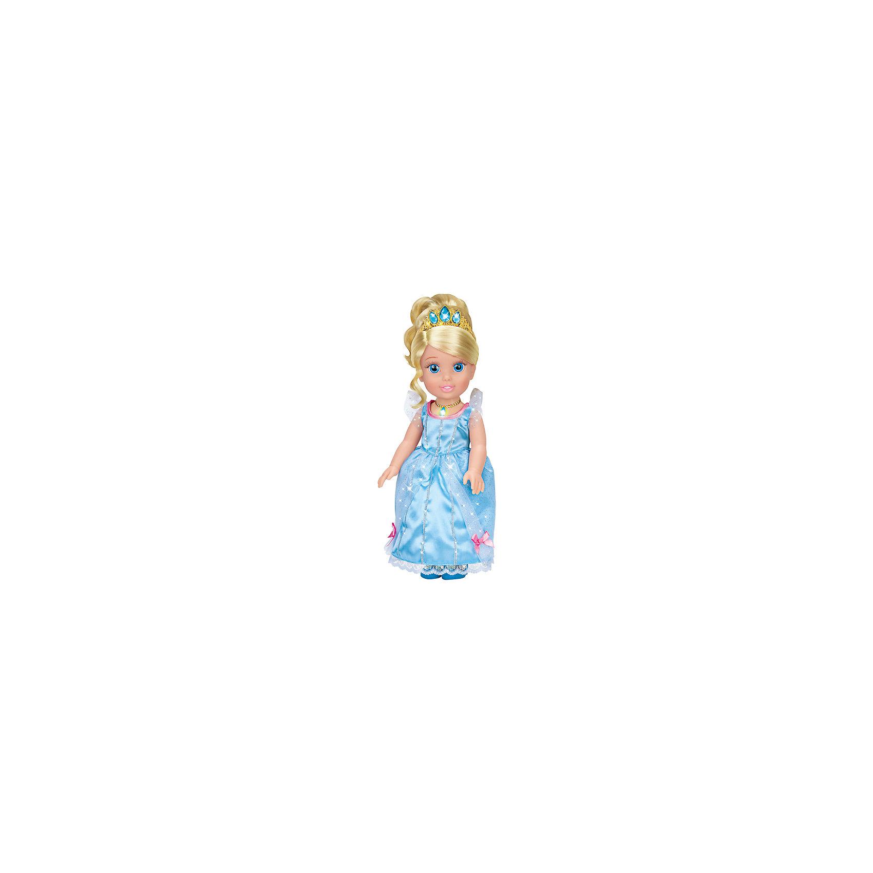 Карапуз Кукла Золушка со светящимся амулетом, 37 см, со звуком, Принцессы Дисней, Карапуз hasbro кукла рапунцель принцессы дисней