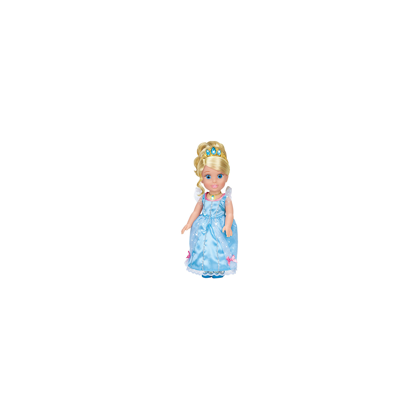 Карапуз Кукла Золушка со светящимся амулетом, 37 см, со звуком, Принцессы Дисней, Карапуз карапуз кукла золушка со светящимся амулетом 37 см со звуком принцессы дисней карапуз