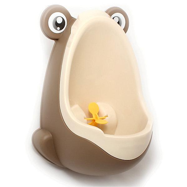 Писсуар с прицелом Лягушка, Roxy-kids, бежево-коричневыйДетские горшки<br>Писсуар с прицелом, Roxy-kids (Рокси-кидс) поможет вашему малышу легко и быстро приучиться ходить во взрослый туалет. Яркий оригинальный писсуар в форме лягушонка обязательно понравится ребенку и в игровой форме поможет малышу овладеть необходимыми гигиеническими навыками. Изделие выполнено из прочного пластика, может крепиться на стену с помощью присосок, расположенных на задней стенке. <br><br>Дополнительная информация:<br><br>- Размер: 15х21х30 см.<br>- Материал: пластик.<br>- Цвет: бежевый, коричневый..<br><br>Писсуар с прицелом Лягушка, Roxy-kids (Рокси-кидс), бежево-коричневый, можно купить в нашем магазине.<br><br>Ширина мм: 220<br>Глубина мм: 220<br>Высота мм: 360<br>Вес г: 500<br>Возраст от месяцев: 12<br>Возраст до месяцев: 36<br>Пол: Мужской<br>Возраст: Детский<br>SKU: 3998107