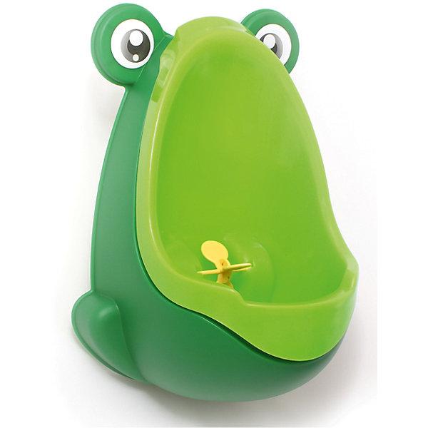 Писсуар с прицелом Лягушка, Roxy-kids, зеленыйДетские горшки и писсуары<br>Писсуар с прицелом, Roxy-kids (Рокси-кидс) поможет вашему малышу легко и быстро приучиться ходить во взрослый туалет. Яркий оригинальный писсуар в форме лягушонка обязательно понравится ребенку и в игровой форме поможет крохе овладеть необходимыми гигиеническими навыками. Изделие выполнено из прочного пластика, может крепиться на стену с помощью присосок, расположенных на задней стенке. <br><br>Дополнительная информация:<br><br>- Размер: 15х21х30 см.<br>- Материал: пластик.<br>- Цвет: зеленый.<br><br>Писсуар с прицелом Лягушка, Roxy-kids (Рокси-кидс), зеленый, можно купить в нашем магазине.<br>Ширина мм: 220; Глубина мм: 220; Высота мм: 360; Вес г: 500; Возраст от месяцев: 12; Возраст до месяцев: 36; Пол: Мужской; Возраст: Детский; SKU: 3998108;