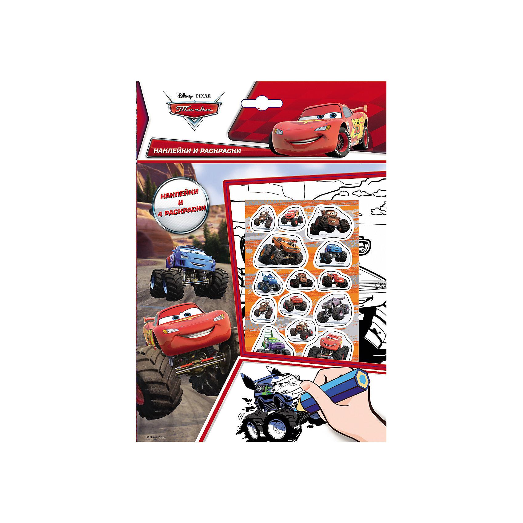 Тачки. Наклейки и раскраски Большие Колеса, DisneyТачки. Наклейки и раскраски Большие Колеса, Disney (Дисней) – это лучший подарок любому мальчику поклоннику мультфильма Тачки (Cars).<br>Набор листов для раскрашивания с веселыми наклейками! Вашему ребенку понравится раскрашивать картинки, а наклейками можно украсить свои рисунки. Наклейки выполнены из высококачественного полимерного материала и отличаются высоким качеством.<br><br>Дополнительная информация:<br><br>- В наборе: наклейки, 4 раскраски<br>- Издательство: Росмэн<br>- Серия: Наклейки и раскраски<br>- Переплет: мягкий переплет<br>- Размер: 260 х 180 x 2 мм.<br>- Вес: 40 г<br>- Страниц: 10<br><br>Раскраску Тачки. Наклейки и раскраски Большие Колеса, Disney (Дисней) можно купить в нашем интернет-магазине.<br><br>Внимание! В соответствии с Постановлением Правительства Российской Федерации от 19.01.1998 № 55, непродовольственные товары надлежащего качества нижеследующих категорий не подлежат возврату и обмену: непериодические издания (книги, брошюры, альбомы, картографические и нотные издания, листовые изоиздания, календари, буклеты, открытки, издания, воспроизведенные на технических носителях информации).<br><br>Ширина мм: 260<br>Глубина мм: 180<br>Высота мм: 2<br>Вес г: 40<br>Возраст от месяцев: 36<br>Возраст до месяцев: 96<br>Пол: Мужской<br>Возраст: Детский<br>SKU: 3998154