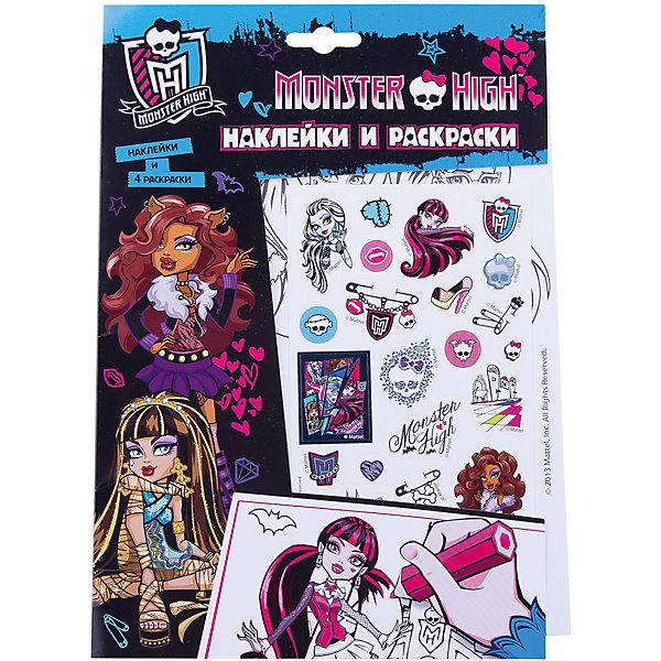 Наклейки и раскраски (голубая), Monster HighРаскраски по номерам<br>Наклейки и раскраски (голубая), Monster High (Монстр Хай) – это лучший подарок для девочки поклонницы мультсериала Школа Монстров.<br>Набор листов для раскрашивания с веселыми наклейками! Вашему ребенку понравится раскрашивать картинки, а наклейками в стиле учениц школы Монстров можно украсить свои рисунки. Наклейки выполнены из высококачественного полимерного материала и отличаются высоким качеством.<br><br>Дополнительная информация:<br><br>- В наборе: наклейки, 4 раскраски<br>- Серия: Наклейки и раскраски<br>- Издательство: Росмэн<br>- Переплет: мягкий переплет<br>- Размер: 260 х 180 x 2 мм.<br>- Вес: 40 г<br>- Страниц: 10<br><br>Раскраску Наклейки и раскраски (голубая), Monster High (Монстер Хай) можно купить в нашем интернет-магазине.<br>Ширина мм: 260; Глубина мм: 180; Высота мм: 2; Вес г: 40; Возраст от месяцев: 60; Возраст до месяцев: 96; Пол: Женский; Возраст: Детский; SKU: 3998155;