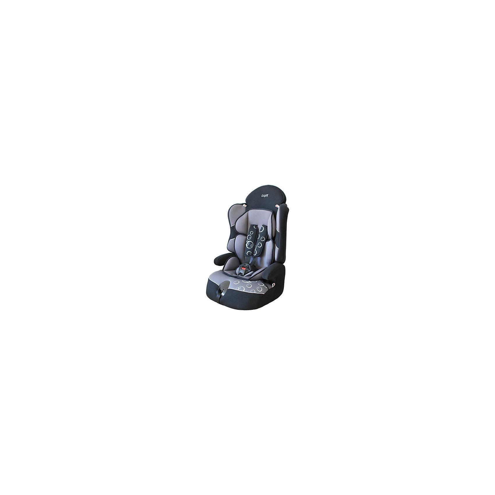 Автокресло Siger Драйв, 9-36 кг, серыйГруппа 1-2-3 (От 9 до 36 кг)<br>Автокресло Драйв - прекрасный вариант для поездок и путешествий на автомобиле. Ортопедическая спинка, уникальная форма подголовника и  регулировка плечевых лямок по высоте обеспечивают комфорт и безопасность во время езды. Двухпозиционная регулировка ремней по глубине, позволяет адаптировать их под зимнюю и летнюю одежду. Округлая форма сиденья предохраняет ножки малышей от затекания и натирания в процессе езды. Усовершенствованная форма спинки обеспечивает безошибочное прохождения ремня безопасности. Уникальная система крепления позволит быстро и надежно установить кресло в автомобиль, и «мягко» удержит ребенка в поворотах и при ДТП. Когда ваш ребенок подрастет, вы легко сможете трансформировать автокресло в удобный бустер. Модель изготовлена из высококачественных прочных материалов, имеет износостойкий внешний  чехол, который легко снимается для стирки. <br><br>Дополнительная информация:<br><br>- Материал: пластик, текстиль.<br>- Вес ребенка: 9-36 кг. ( 1-12 лет).<br>- Группа 1-2-3.<br>- Ширина посадочного места: 48 см.<br>- Глубина посадочного места: 42 см,<br>- Высота кресла: 58<br>- Вес кресла: 4,8 кг.<br>- Регулировка ремней и плечевых лямок.<br>- 5- титочечные ремни безопасности.<br>- Ортопедическая спинка.<br>- Трансформируется в бустер.<br>- Цвет: серый. <br>- Стирка: ручная, машинная ( при 30 ? ).<br>- Способ установки: лицом вперед.<br><br>Автокресло Драйв, 9-36 кг., Siger (Сигер), серое, можно купить в нашем магазине.<br><br>Ширина мм: 585<br>Глубина мм: 450<br>Высота мм: 625<br>Вес г: 4800<br>Возраст от месяцев: 12<br>Возраст до месяцев: 144<br>Пол: Унисекс<br>Возраст: Детский<br>SKU: 3999707