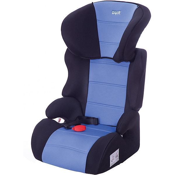 Автокресло Siger Смарт, 15-36 кг, голубойГруппа 2-3  (от 15 до 36 кг)<br>Автокресло Смарт - прекрасное кресло для уже подросших малышей! Ортопедическая спинка и уникальная форма подголовника защитят ребенка от боковых ударов. Спинка регулируется в 3 положениях, что позволяет креслу адаптироваться под наклон сидений автомобиля. Подголовник регулируется в 6 положениях, подстраиваясь под рост ребенка. Округлая форма сиденья предохраняет ножки малышей от затекания и натирания в процессе езды. Когда ваш ребенок подрастет, вы легко сможете трансформировать автокресло в удобный бустер. Модель изготовлена из высококачественных прочных материалов, имеет износостойкий внешний  чехол, который легко снимается для стирки. <br><br>Дополнительная информация:<br><br>- Материал: пластик, текстиль.<br>- Вес ребенка: 15-36 кг. ( 3-12 лет).<br>- Группа 2-3.<br>- Ширина посадочного места: 31 см.<br>- Глубина посадочного места: 33 см.<br>- Высота посадочного места: 10 см.<br>- Высота кресла: 70см.<br>- Ширина кресла: 45см <br>- Вес кресла: 4,7 кг.<br>- Регулировка спинки: в 3-х положениях.<br>- Регулировка подголовника: в 6-ти положениях.<br>- Ортопедическая спинка.<br>- Трансформируется в бустер.<br>- Цвет: голубой. <br>- Стирка: ручная, машинная ( при 30 ? ).<br>- Способ установки: лицом вперед.<br><br>Автокресло Смарт, 15-36 кг., Siger (Сигер), голубое, можно купить в нашем магазине.<br>Ширина мм: 515; Глубина мм: 450; Высота мм: 700; Вес г: 4700; Возраст от месяцев: 36; Возраст до месяцев: 144; Пол: Унисекс; Возраст: Детский; SKU: 3999714;