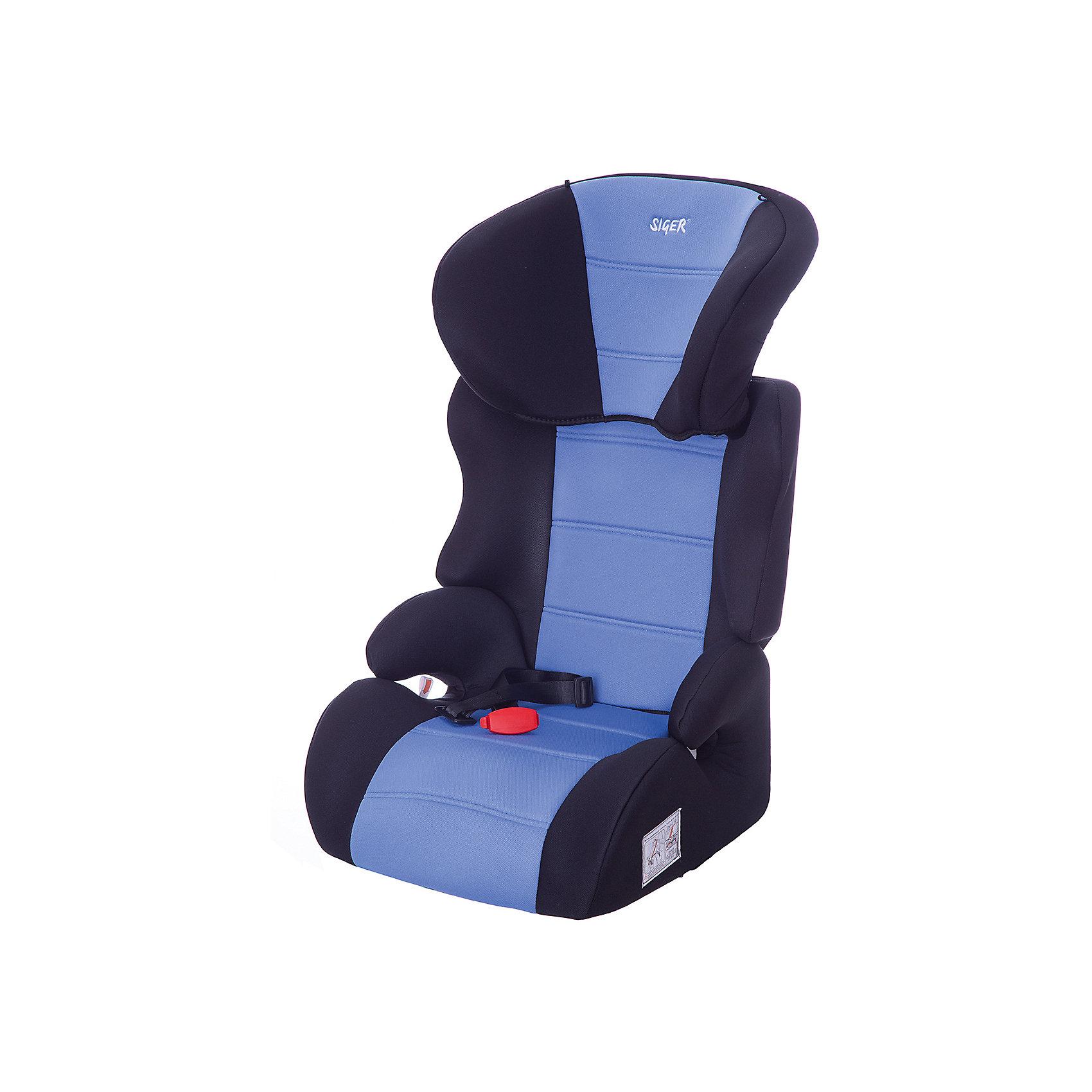 Автокресло Siger Смарт, 15-36 кг, голубойГруппа 2-3 (От 15 до 36 кг)<br>Автокресло Смарт - прекрасное кресло для уже подросших малышей! Ортопедическая спинка и уникальная форма подголовника защитят ребенка от боковых ударов. Спинка регулируется в 3 положениях, что позволяет креслу адаптироваться под наклон сидений автомобиля. Подголовник регулируется в 6 положениях, подстраиваясь под рост ребенка. Округлая форма сиденья предохраняет ножки малышей от затекания и натирания в процессе езды. Когда ваш ребенок подрастет, вы легко сможете трансформировать автокресло в удобный бустер. Модель изготовлена из высококачественных прочных материалов, имеет износостойкий внешний  чехол, который легко снимается для стирки. <br><br>Дополнительная информация:<br><br>- Материал: пластик, текстиль.<br>- Вес ребенка: 15-36 кг. ( 3-12 лет).<br>- Группа 2-3.<br>- Ширина посадочного места: 31 см.<br>- Глубина посадочного места: 33 см.<br>- Высота посадочного места: 10 см.<br>- Высота кресла: 70см.<br>- Ширина кресла: 45см <br>- Вес кресла: 4,7 кг.<br>- Регулировка спинки: в 3-х положениях.<br>- Регулировка подголовника: в 6-ти положениях.<br>- Ортопедическая спинка.<br>- Трансформируется в бустер.<br>- Цвет: голубой. <br>- Стирка: ручная, машинная ( при 30 ? ).<br>- Способ установки: лицом вперед.<br><br>Автокресло Смарт, 15-36 кг., Siger (Сигер), голубое, можно купить в нашем магазине.<br><br>Ширина мм: 515<br>Глубина мм: 450<br>Высота мм: 700<br>Вес г: 4700<br>Возраст от месяцев: 36<br>Возраст до месяцев: 144<br>Пол: Унисекс<br>Возраст: Детский<br>SKU: 3999714