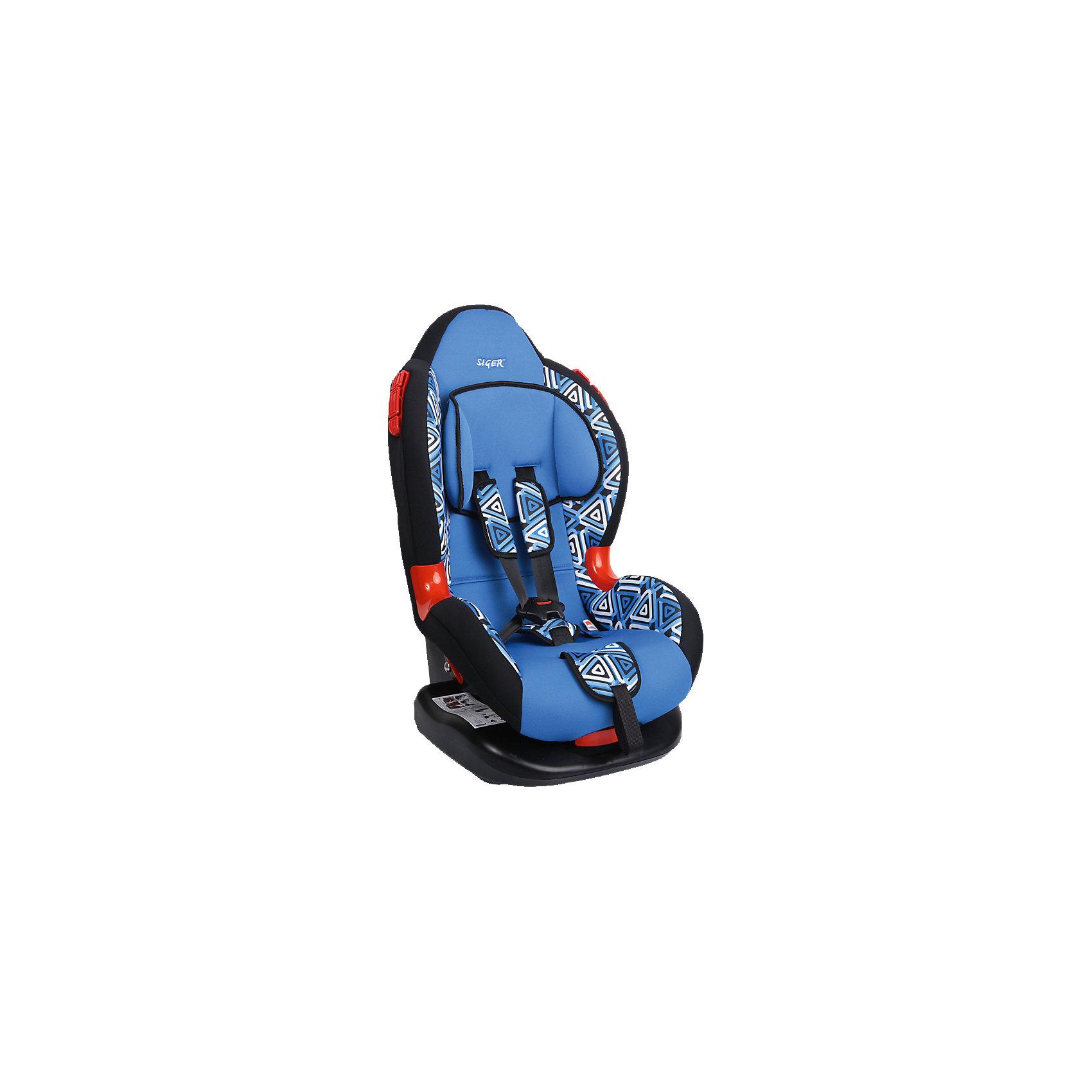 Автокресло Siger Кокон Art, 9-25 кг, геометрияГруппа 1-2 (От 9 до 25 кг)<br>Автокресло Кокон Art - прекрасный вариант для отдыха и путешествий для уже подросших малышей. Ортопедическая спинка, уникальная форма мягкого подголовника ,замок внутренних ремней с повышенной надежностью, 2 позиции прохождения штатного ремня обеспечивают удобство и надежную защиту вашего ребенка. Спинка регулируется в 6 положениях, что позволяет креслу адаптироваться под наклон сидений автомобиля. Округлая форма сиденья предохраняет ножки малышей от затекания и натирания в процессе езды. Модель имеет внутренние 5- титочечные ремни безопасности с мягкими внутренними накладками для еще большего комфорта. Износостойкие вставки для внутренних ремней для еще большей прочности и красоты. Кресло выполнено из высококачественных материалов, съемный  чехол прекрасно стирается в машине или же руками.<br><br>Дополнительная информация:<br><br>- Материал: пластик, текстиль.<br>- Вес ребенка: 9-25 кг. ( 1-7 лет).<br>- Группа 1-2.<br>- Ширина: 45,5 см.<br>- Глубина: 78 см.<br>- Глубина посадочного места: 50,5 см.<br>- Вес кресла: 7 кг.<br>- Регулировка ремней и плечевых лямок.<br>- 5- титочечные ремни безопасности.<br>- Ортопедическая спинка.<br>- Цвет: синий, принт - геометрия. <br>- Стирка: ручная, машинная ( при 30 ? ).<br>- Способ установки: лицом вперед.<br><br>Автокресло Кокон Art, 9-25 кг., Siger (Сигер), геометрия можно купить в нашем магазине.<br><br>Ширина мм: 505<br>Глубина мм: 455<br>Высота мм: 780<br>Вес г: 7000<br>Возраст от месяцев: 12<br>Возраст до месяцев: 84<br>Пол: Унисекс<br>Возраст: Детский<br>SKU: 3999732