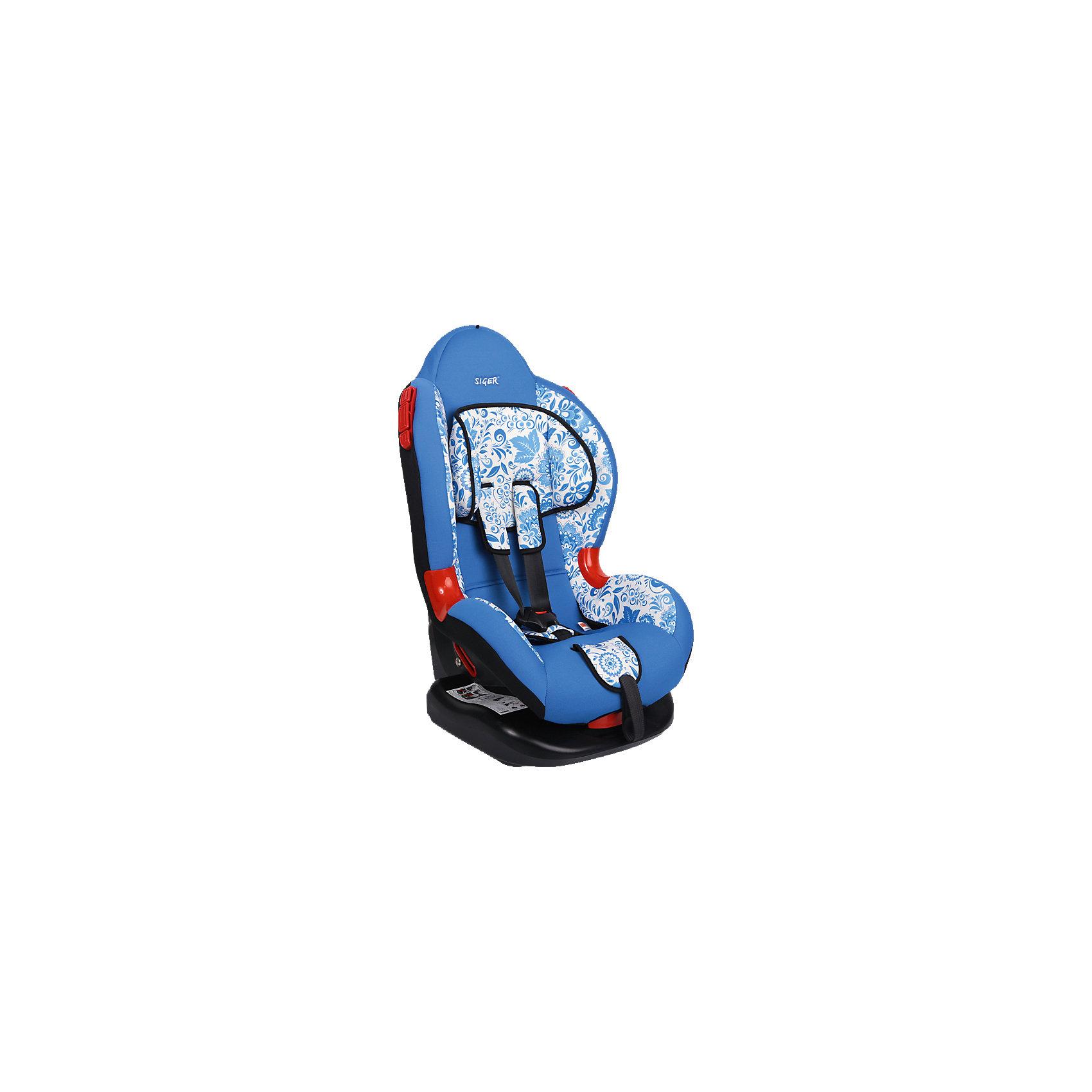 Автокресло Siger Кокон Art, 9-25 кг, гжельГруппа 1-2 (От 9 до 25 кг)<br>Автокресло Кокон Art - прекрасный вариант для отдыха и путешествий для уже подросших малышей. Ортопедическая спинка, уникальная форма мягкого подголовника ,замок внутренних ремней с повышенной надежностью, 2 позиции прохождения штатного ремня обеспечивают удобство и надежную защиту вашего ребенка. Спинка регулируется в 6 положениях, что позволяет креслу адаптироваться под наклон сидений автомобиля. Округлая форма сиденья предохраняет ножки малышей от затекания и натирания в процессе езды. Модель имеет внутренние 5- титочечные ремни безопасности с мягкими внутренними накладками для еще большего комфорта. Износостойкие вставки для внутренних ремней для еще большей прочности и красоты. Кресло выполнено из высококачественных материалов, съемный  чехол  прекрасно стирается в машине или же руками.<br><br>Дополнительная информация:<br><br>- Материал: пластик, текстиль.<br>- Вес ребенка: 9-25 кг. ( 1-7 лет).<br>- Группа 1-2.<br>- Ширина: 45,5 см.<br>- Глубина: 78 см.<br>- Глубина посадочного места: 50,5 см.<br>- Вес кресла: 7 кг.<br>- Регулировка ремней и плечевых лямок.<br>- 5- титочечные ремни безопасности.<br>- Ортопедическая спинка.<br>- Цвет: синий, принт - гжель. <br>- Стирка: ручная, машинная ( при 30 ? ).<br>- Способ установки: лицом вперед.<br><br>Автокресло Кокон Art, 9-25 кг., Siger (Сигер), гжель можно купить в нашем магазине.<br><br>Ширина мм: 505<br>Глубина мм: 455<br>Высота мм: 780<br>Вес г: 7000<br>Возраст от месяцев: 12<br>Возраст до месяцев: 84<br>Пол: Унисекс<br>Возраст: Детский<br>SKU: 3999733