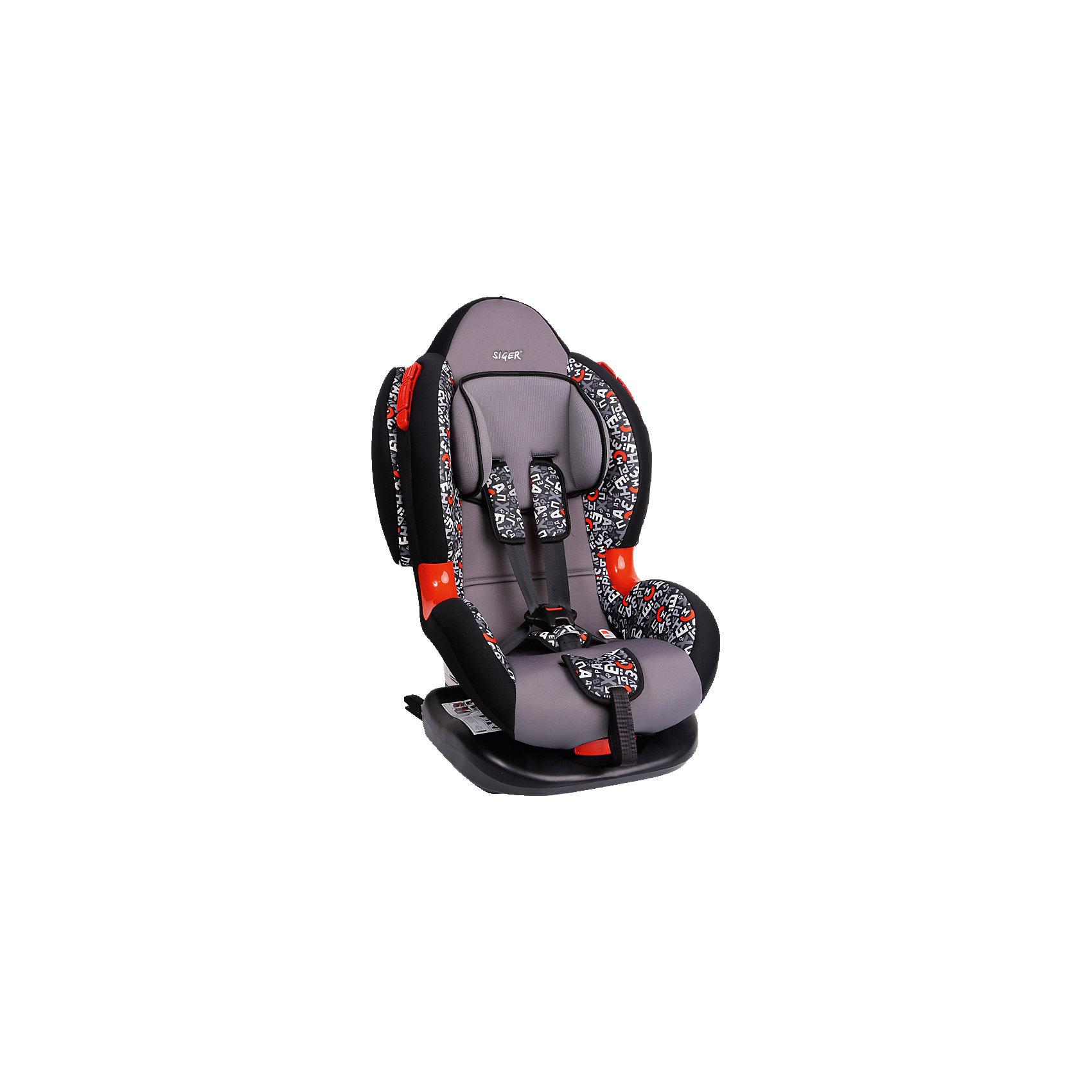 Автокресло Siger Кокон Art Isofix, 9-25 кг, алфавитГруппа 1-2 (От 9 до 25 кг)<br>Автокресло Кокон Art - прекрасный вариант для отдыха и путешествий для уже подросших малышей. Ортопедическая спинка, уникальная форма мягкого подголовника ,замок внутренних ремней с повышенной надежностью, 2 позиции прохождения штатного ремня обеспечивают удобство и надежную защиту вашего ребенка. Спинка регулируется в 6 положениях, что позволяет креслу адаптироваться под наклон сидений автомобиля. Округлая форма сиденья предохраняет ножки малышей от затекания и натирания в процессе езды. Модель имеет внутренние 5- титочечные ремни безопасности с мягкими внутренними накладками для еще большего комфорта. Износостойкие вставки для внутренних ремней для еще большей прочности и красоты. Кресло выполнено из высококачественных материалов, съемный  чехол прекрасно стирается в машине или же руками.<br><br>Дополнительная информация:<br><br>- Материал: пластик, текстиль.<br>- Вес ребенка: 9-25 кг. ( 1-7 лет).<br>- Группа 1-2.<br>- Ширина: 49 см.<br>- Глубина: 78 см.<br>- Глубина посадочного места: 50,5 см.<br>- Вес кресла: 8,4 кг.<br>- Регулировка ремней и плечевых лямок.<br>- 5- титочечные ремни безопасности.<br>- Ортопедическая спинка.<br>- Цвет: серый, принт - абстракция. <br>- Стирка: ручная, машинная ( при 30 ? ).<br>- Способ установки: лицом вперед.<br>- Ударопрочные боковые демпферы в комплектации «Изофикс (ISOFIX) плюс якорный ремень»<br><br>Автокресло Кокон Art Isofix, 9-25 кг., Siger (Сигер), алфавит можно купить в нашем магазине.<br><br>Ширина мм: 505<br>Глубина мм: 490<br>Высота мм: 780<br>Вес г: 8400<br>Возраст от месяцев: 12<br>Возраст до месяцев: 84<br>Пол: Унисекс<br>Возраст: Детский<br>SKU: 3999735