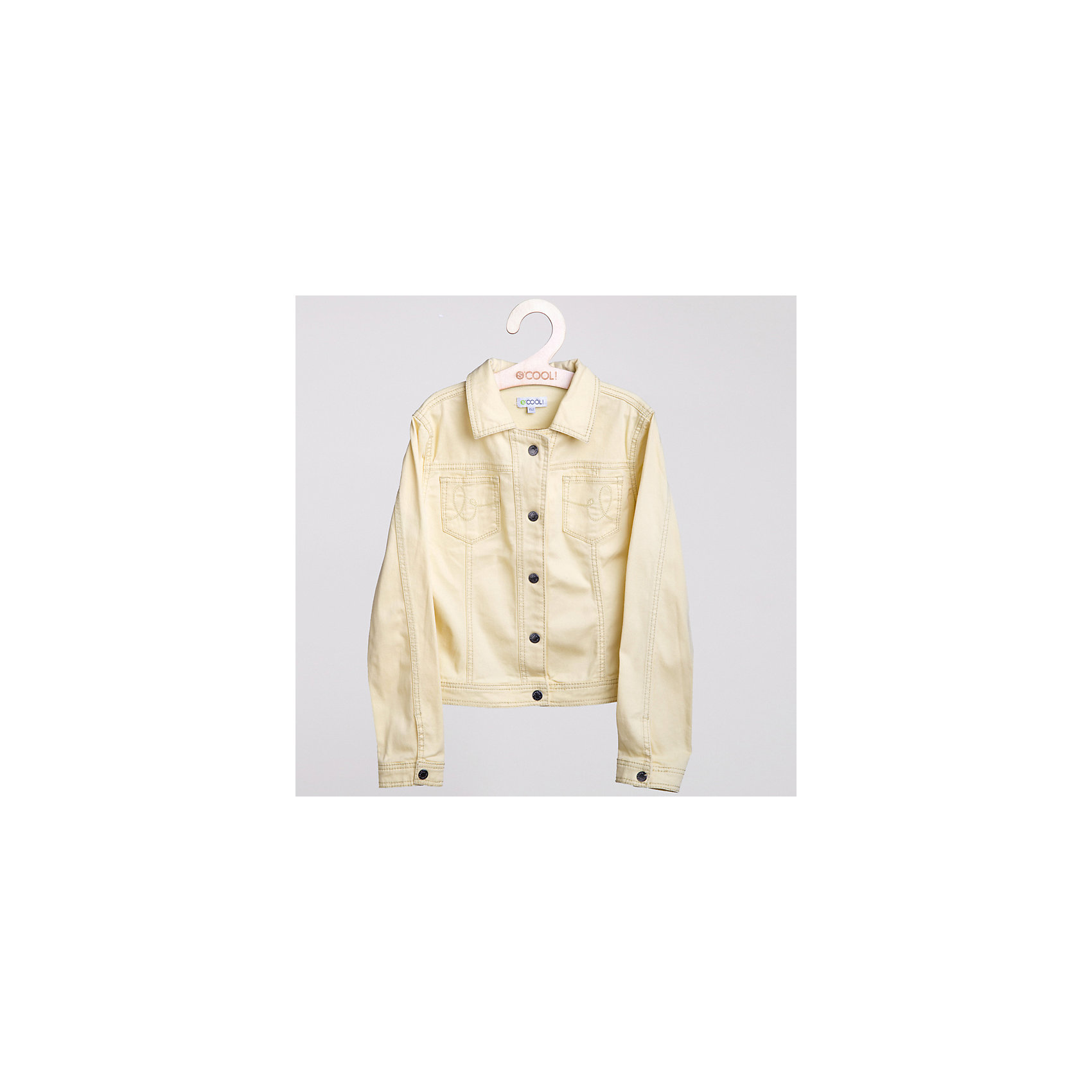 Куртка джинсовая для девочки ScoolДжинсовая одежда<br>Куртка джинсовая яркого цвета для девочки <br>*Застежка - металлические кнопки <br>*Отложной воротничек <br>*Два накладных функциональных кармана на полочке Состав: 95% хлопок, 5% эластан<br><br>Ширина мм: 356<br>Глубина мм: 10<br>Высота мм: 245<br>Вес г: 519<br>Цвет: желтый<br>Возраст от месяцев: 156<br>Возраст до месяцев: 168<br>Пол: Женский<br>Возраст: Детский<br>Размер: 164,134,158,152,146,140<br>SKU: 4000785