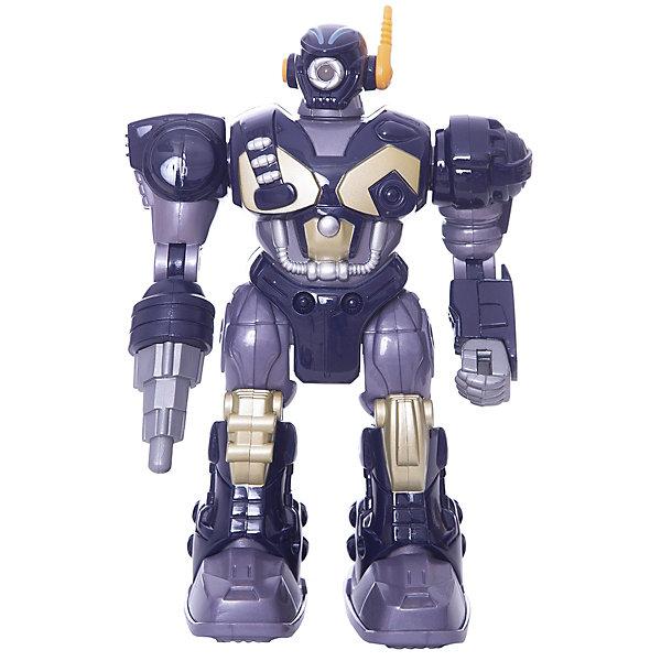 Робот Polar Captain, 17,5 см, HAP-P-KIDРоботы<br>Робот Polar Captain от HAP-P-KID классный подарок юному любителю робототехники! Робот выполнен из качественных материалов, у него прочная броня и несколько видов оружия. Робот самостоятельно передвигается и имеет классные световые эффекты. Устраивать битвы с таким бойцом одно удовольствие! Собирайтесь с друзьями и решайте чей робот самый сильный! <br>Игры с роботами развивают у мальчишек сообразительность и логическое мышление.<br><br>Дополнительная информация: <br><br>- Робот движется вперед;<br>- Три вида оружия;<br>- Световые эффекты;<br>- Работает от батареек: 2 типа ААА;<br>- Высота игрушки: 17,5 см;<br>- Размер упаковки: 13,3 х 9,8 х 20,3;<br>- Вес: 710 г<br><br>Робота Polar Captain, 17,5 см, HAP-P-KID можно купить в нашем интернет-магазине<br>Ширина мм: 133; Глубина мм: 98; Высота мм: 203; Вес г: 710; Возраст от месяцев: 36; Возраст до месяцев: 84; Пол: Мужской; Возраст: Детский; SKU: 4001656;