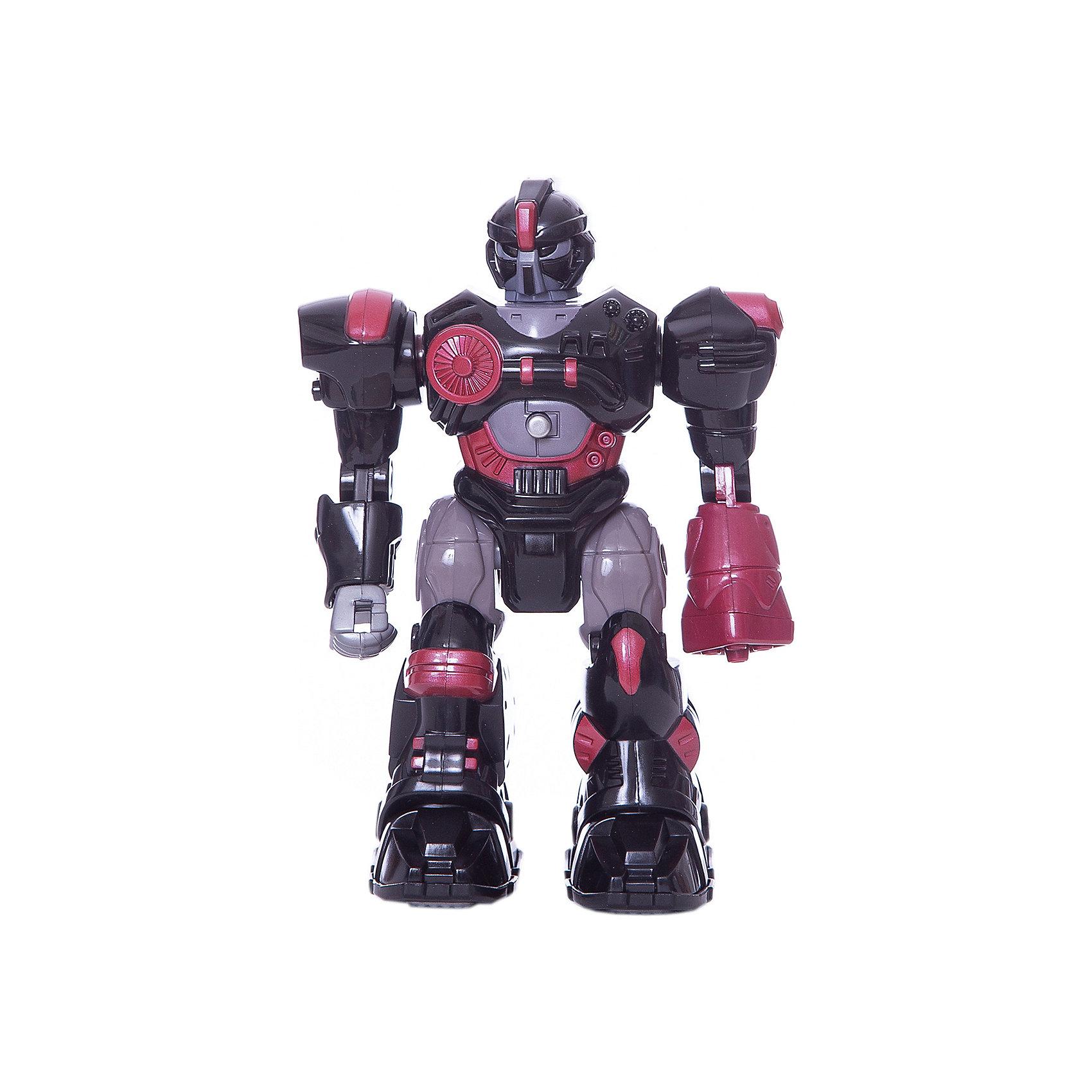 Робот XSS, 17,5 см, HAP-P-KIDРоботы<br>Робот XSS от HAP-P-KID классный подарок юному любителю робототехники! Робот выполнен из качественных материалов, у него прочная броня и несколько видов оружия. Робот самостоятельно передвигается и имеет классные световые эффекты. Устраивать битвы с таким бойцом одно удовольствие! Собирайтесь с друзьями и решайте чей робот самый сильный! <br>Игры с роботами развивают у мальчишек сообразительность и логическое мышление.<br><br>Дополнительная информация: <br><br>- Робот движется вперед;<br>- Три вида оружия;<br>- Световые эффекты;<br>- Работает от батареек: 2 типа ААА;<br>- Прекрасный подарок мальчишке;<br>- Высота игрушки: 17,5 см;<br>- Размер упаковки: 13,3 х 9,8 х 20,3;<br>- Вес: 710 г<br><br>Робота XSS, 17,5 см, HAP-P-KID можно купить в нашем интернет-магазине<br><br>Ширина мм: 133<br>Глубина мм: 98<br>Высота мм: 203<br>Вес г: 710<br>Возраст от месяцев: 36<br>Возраст до месяцев: 84<br>Пол: Мужской<br>Возраст: Детский<br>SKU: 4001657